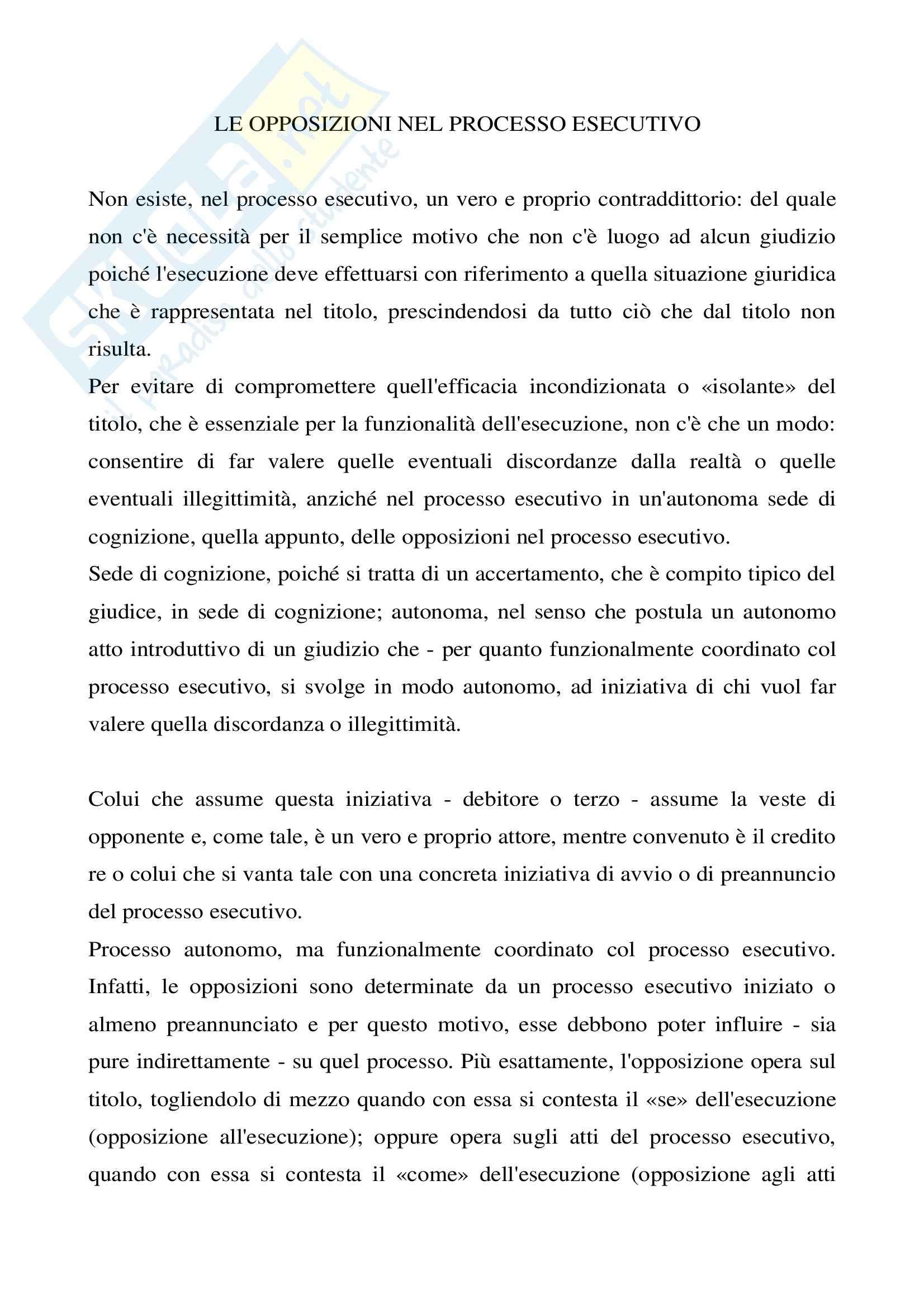 appunto A. Carratta Diritto Processuale Civile II