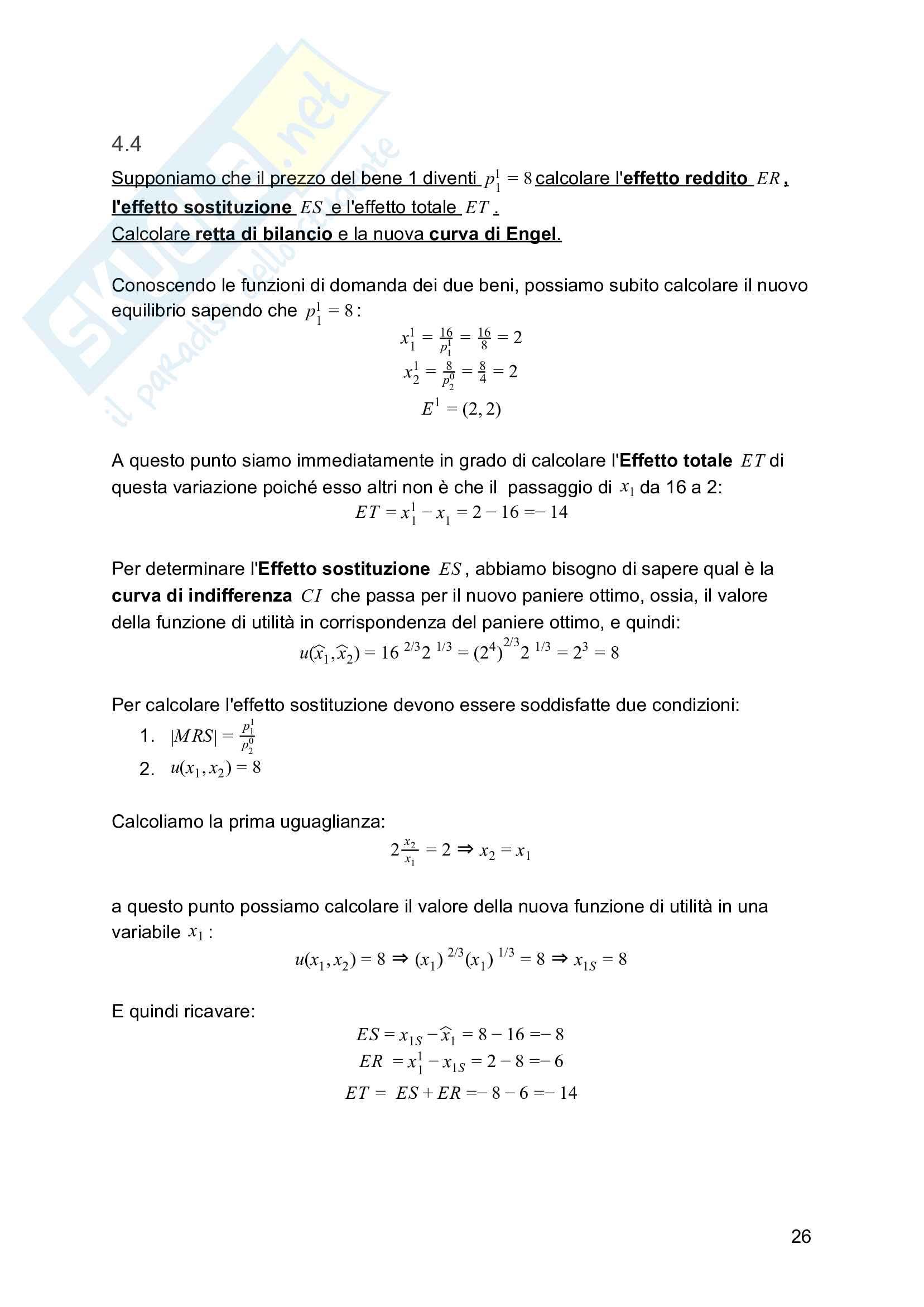 Esercizi e formulario Microeconomia - Primo Parziale Pag. 26