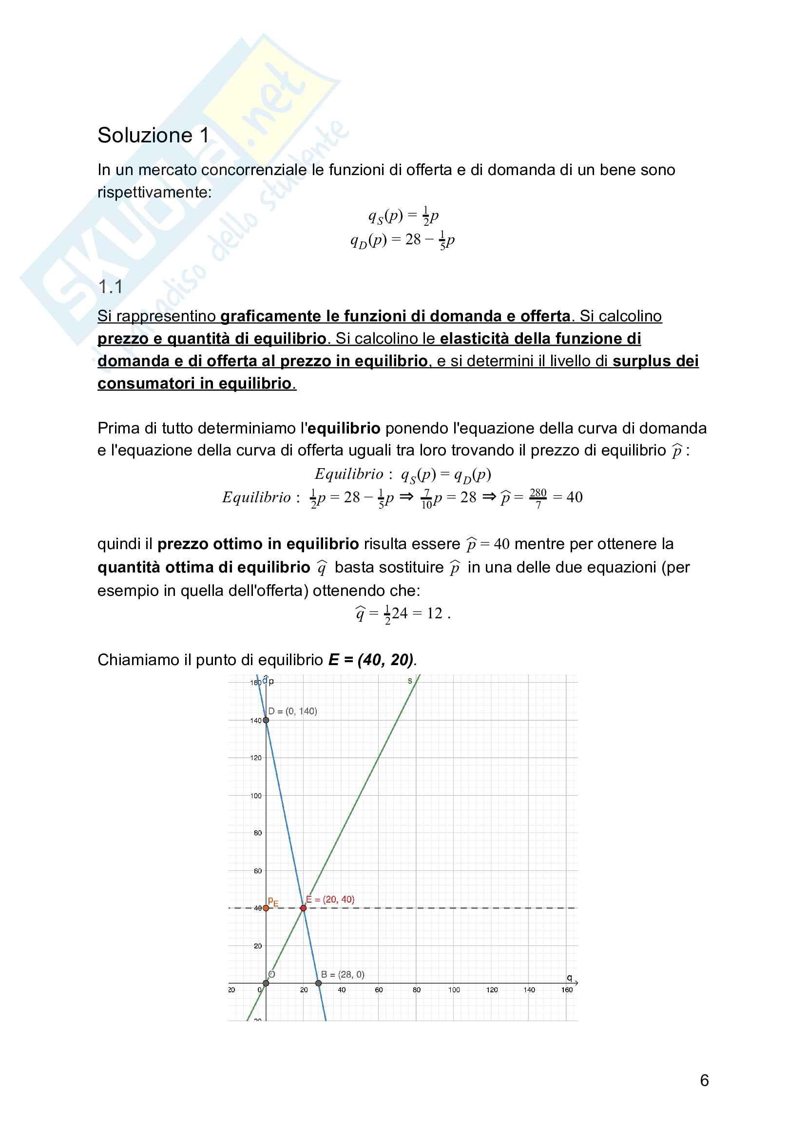 Esercizi e formulario Microeconomia - Primo Parziale Pag. 6