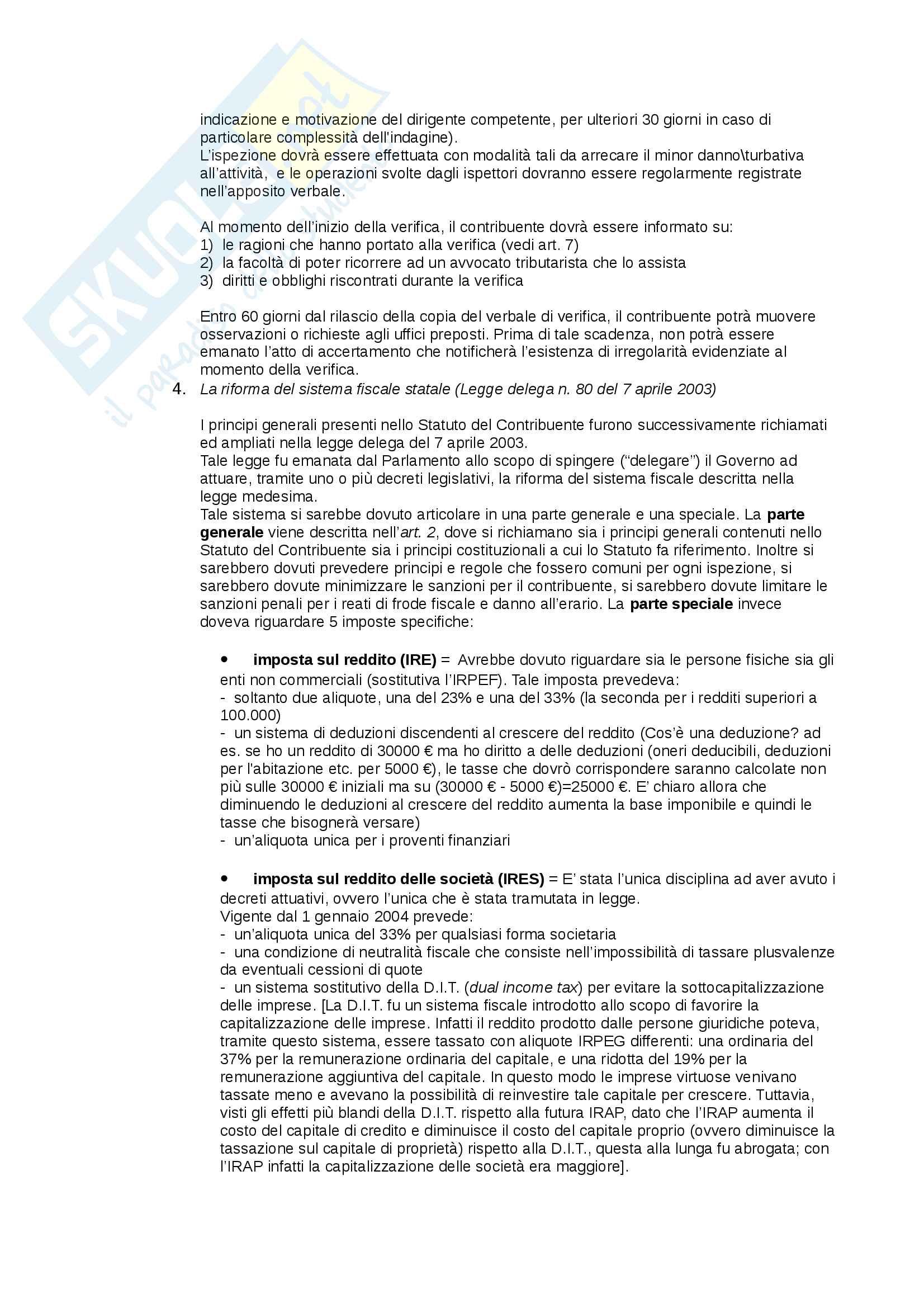 Appunti Diritto tributario d'impresa, prof. Giorgi Pag. 6