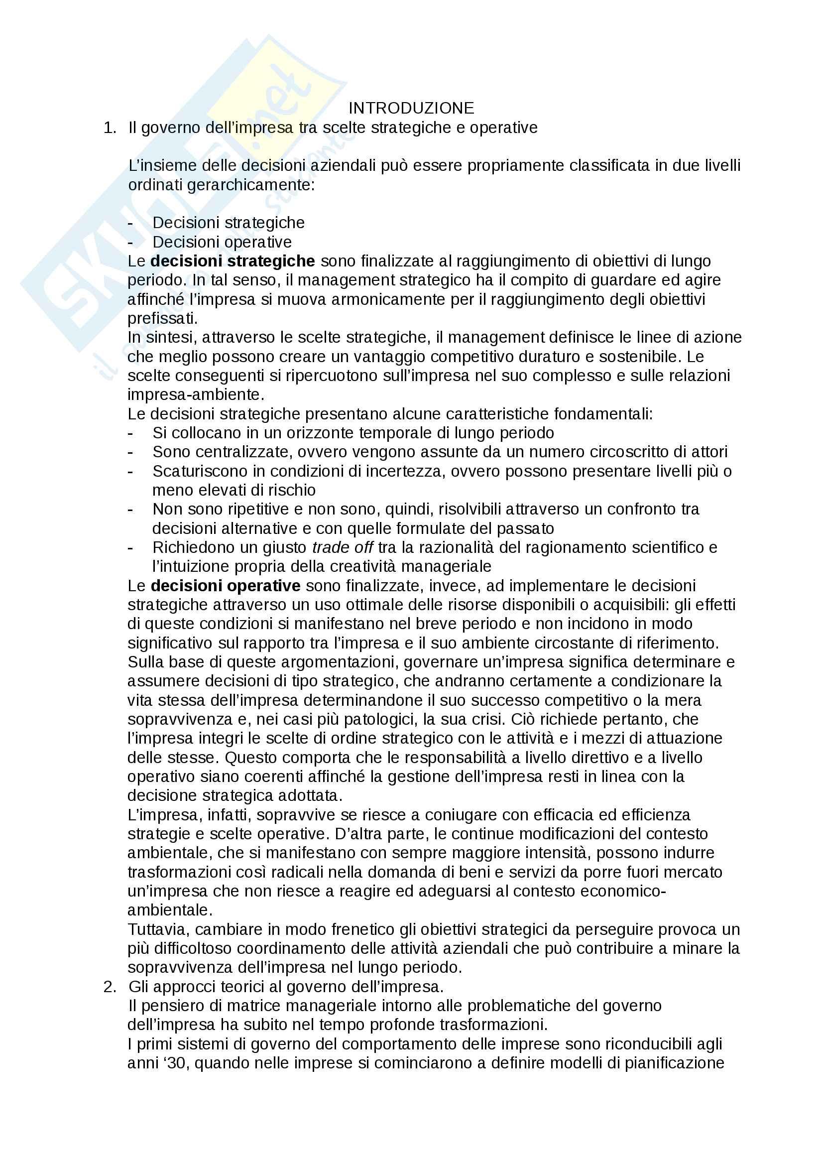 Riassunto esame Economia e Gestione delle Imprese, prof. P.Popoli, libro consigliato: Elementi di Economia e Gestione delle Imprese, Genco, Calvelli