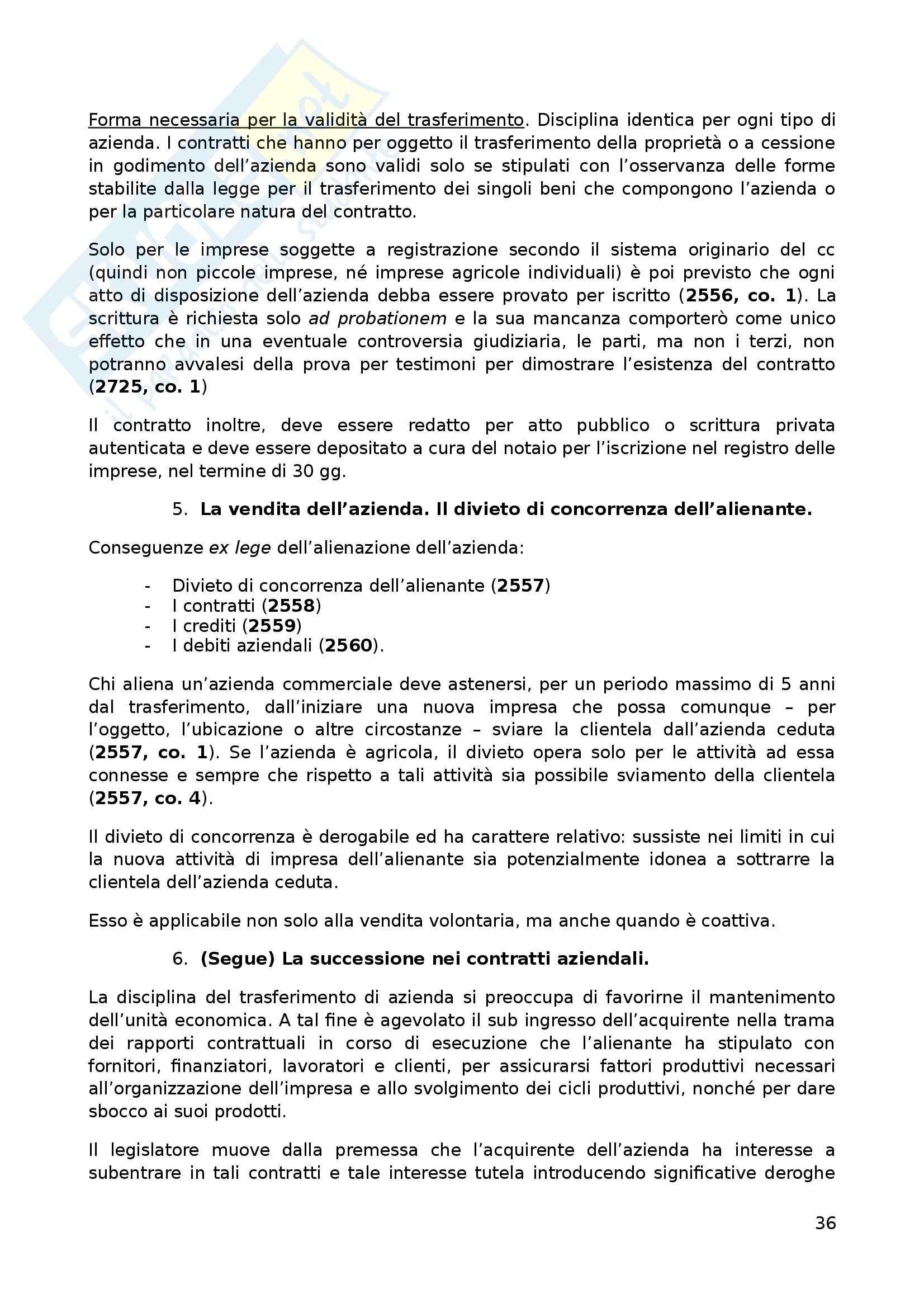 Riassunto esame Diritto commerciale, prof. Lolli, libro consigliato Manuale di Diritto commerciale: volume 1, Campobasso Pag. 36