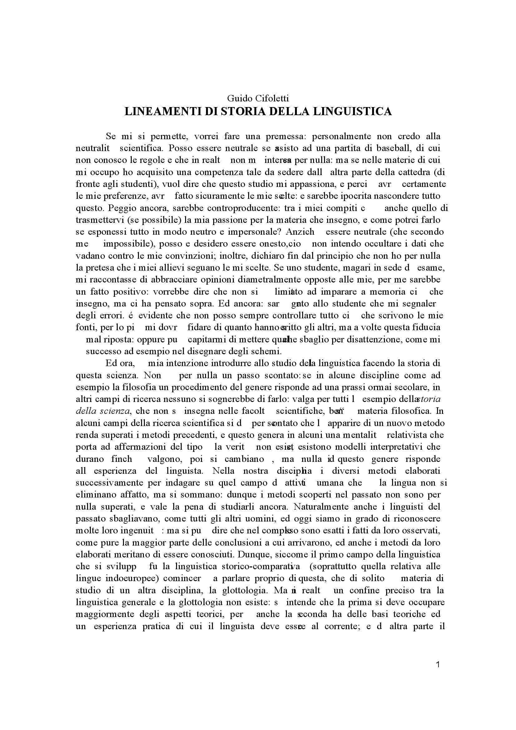 dispensa G. Cifoletti Linguistica generale