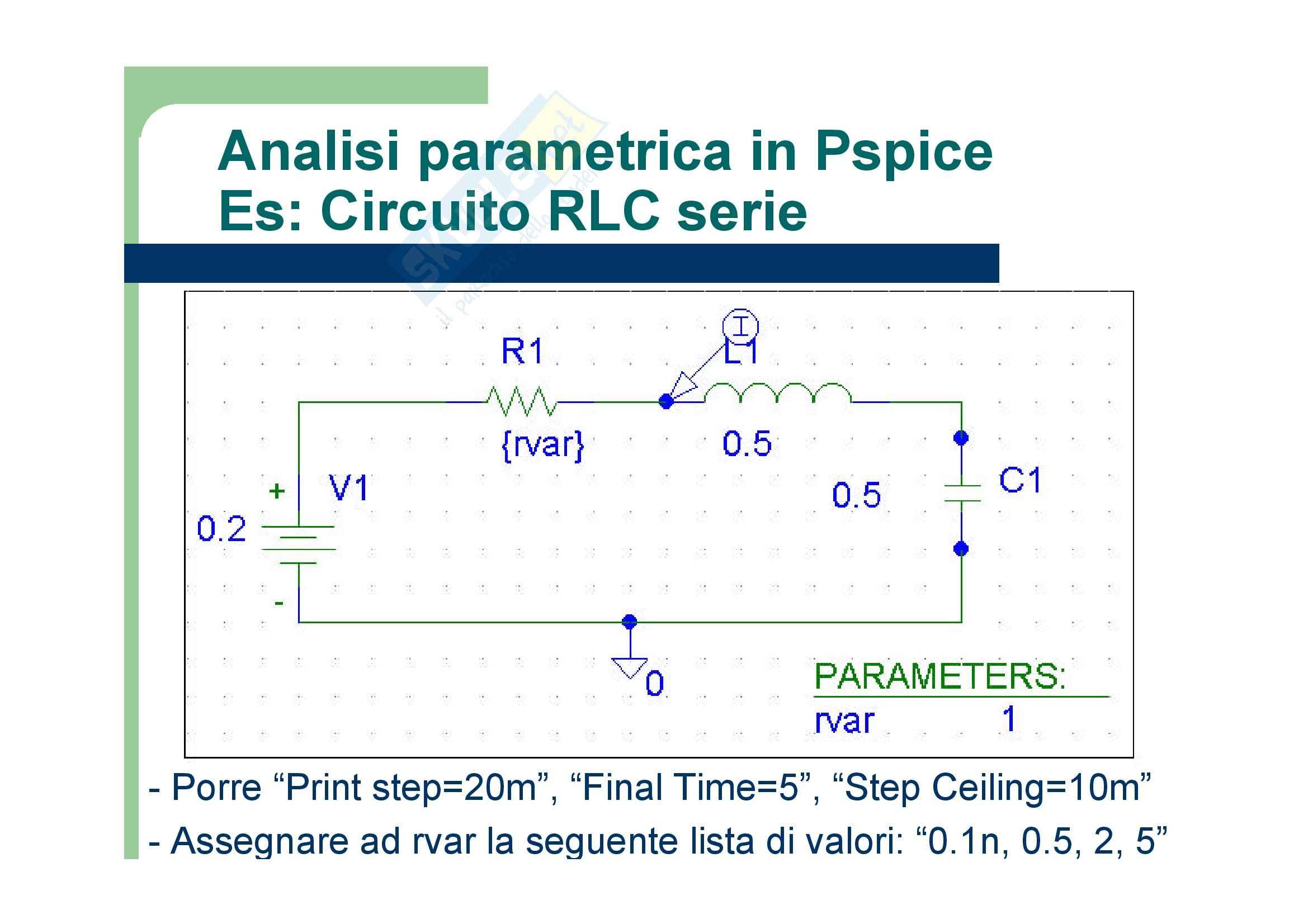 Elettronica analogica - Forme d'onda dei generatori / funzione ad impulso PULSE Pag. 16
