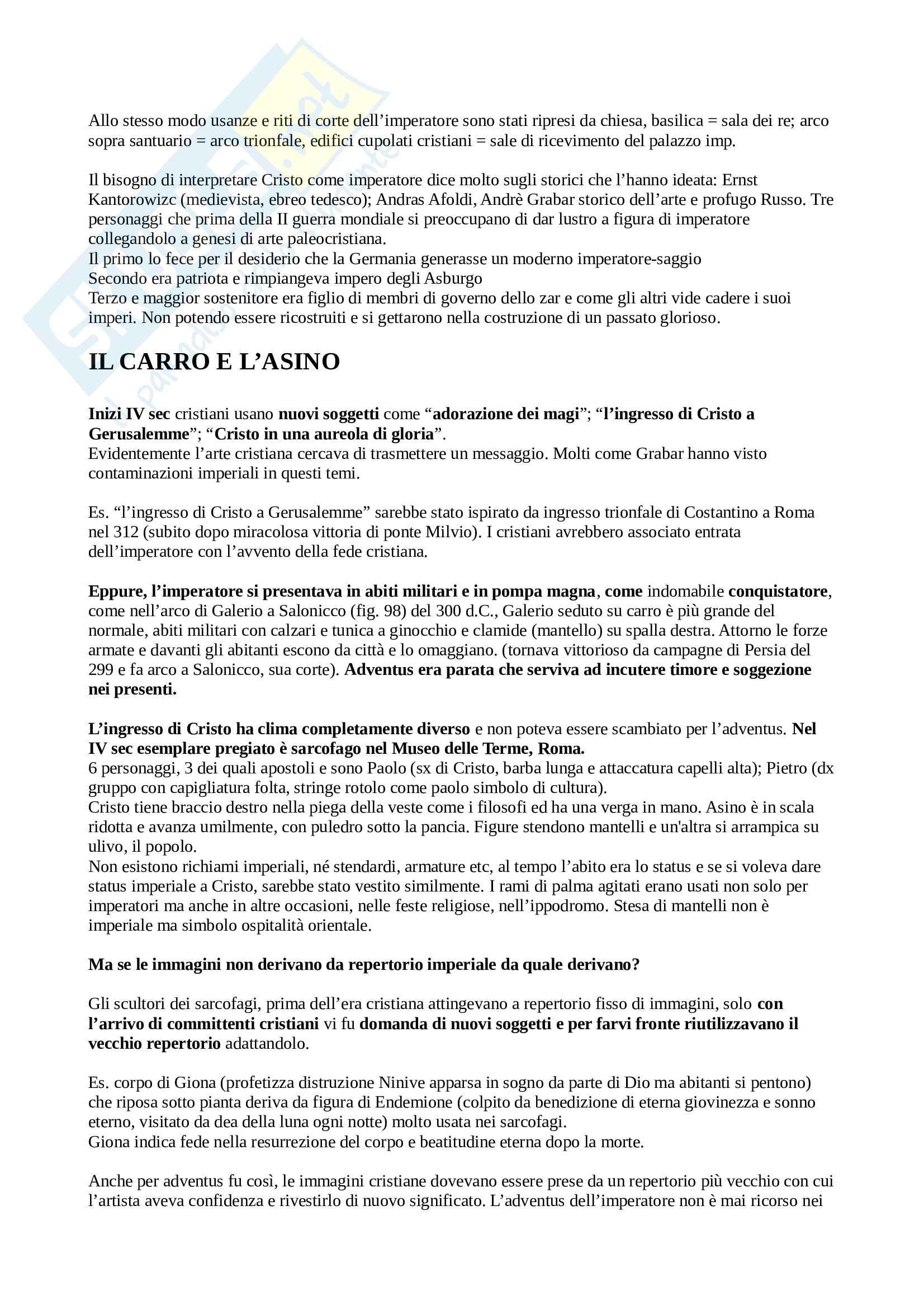 """Riassunto dell'esame Storia del Tardoantico cristiano, prof. Luigi Canetti, testo consigliato: """"Scontro di dei. Una reinterpretazione dell'arte paleolcristiana"""", autore Th Mathews Pag. 2"""