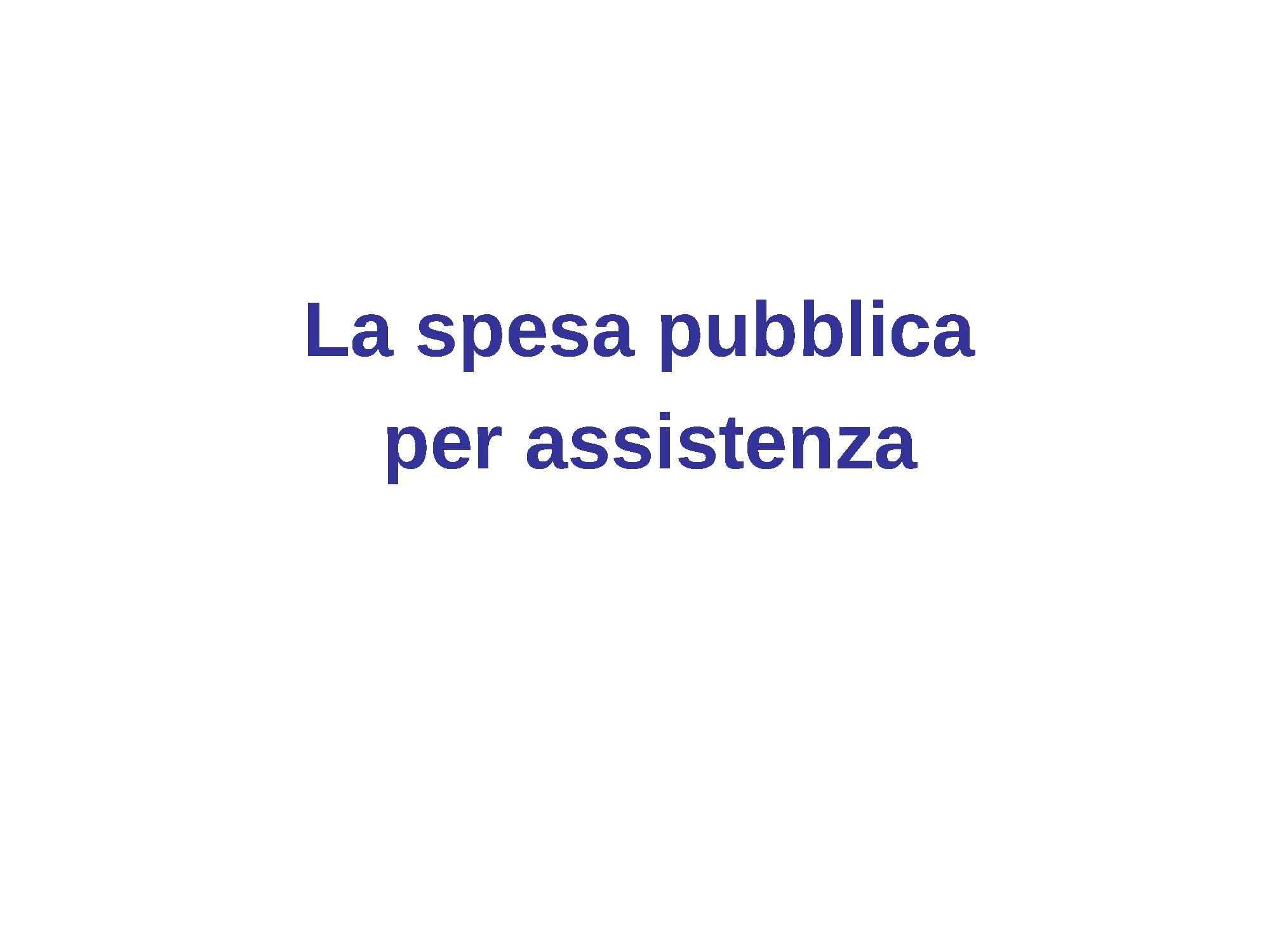 Spesa pubblica assistenziale