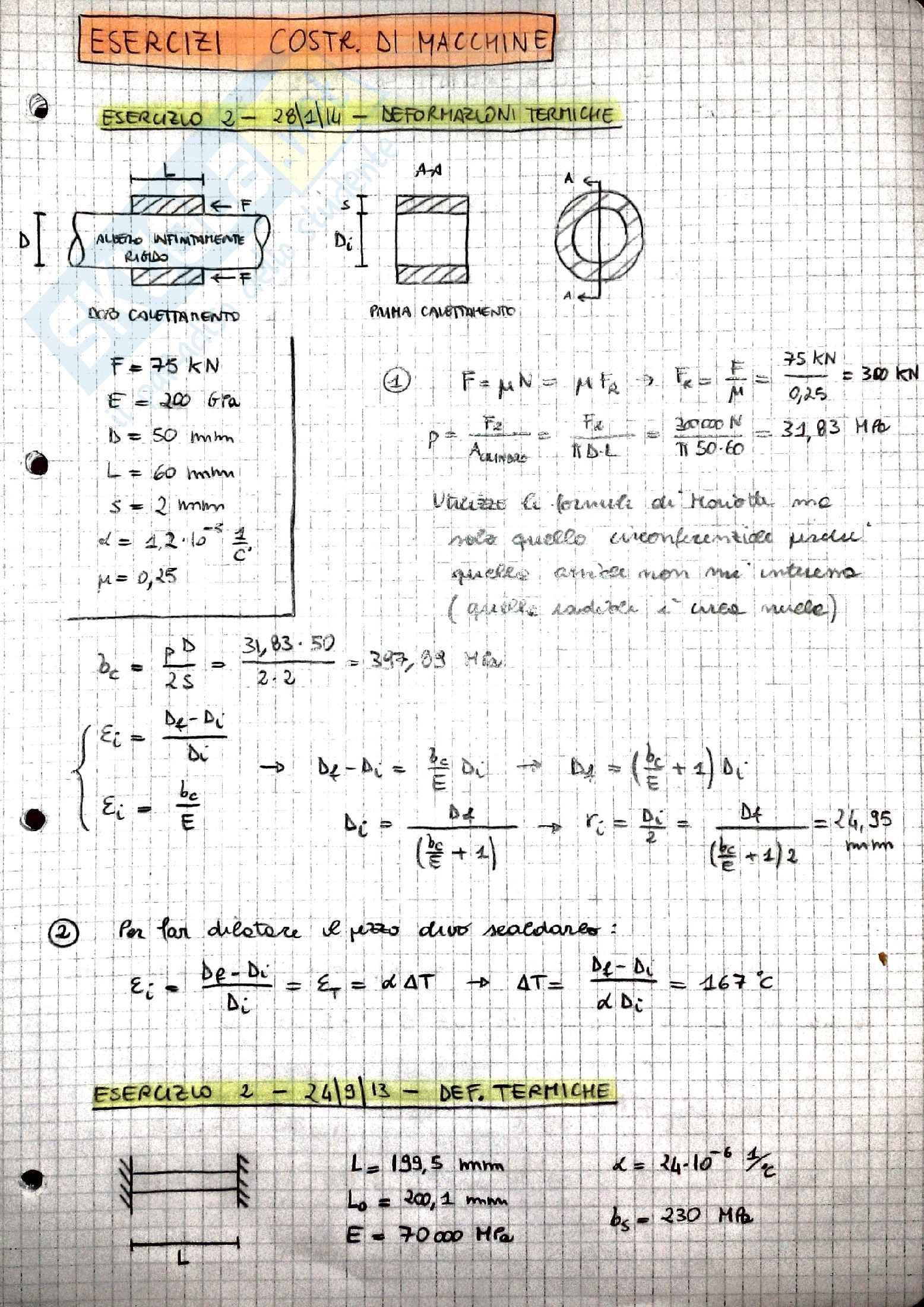 Esercizi Costruzione di Macchine, prof. Dario Amodio