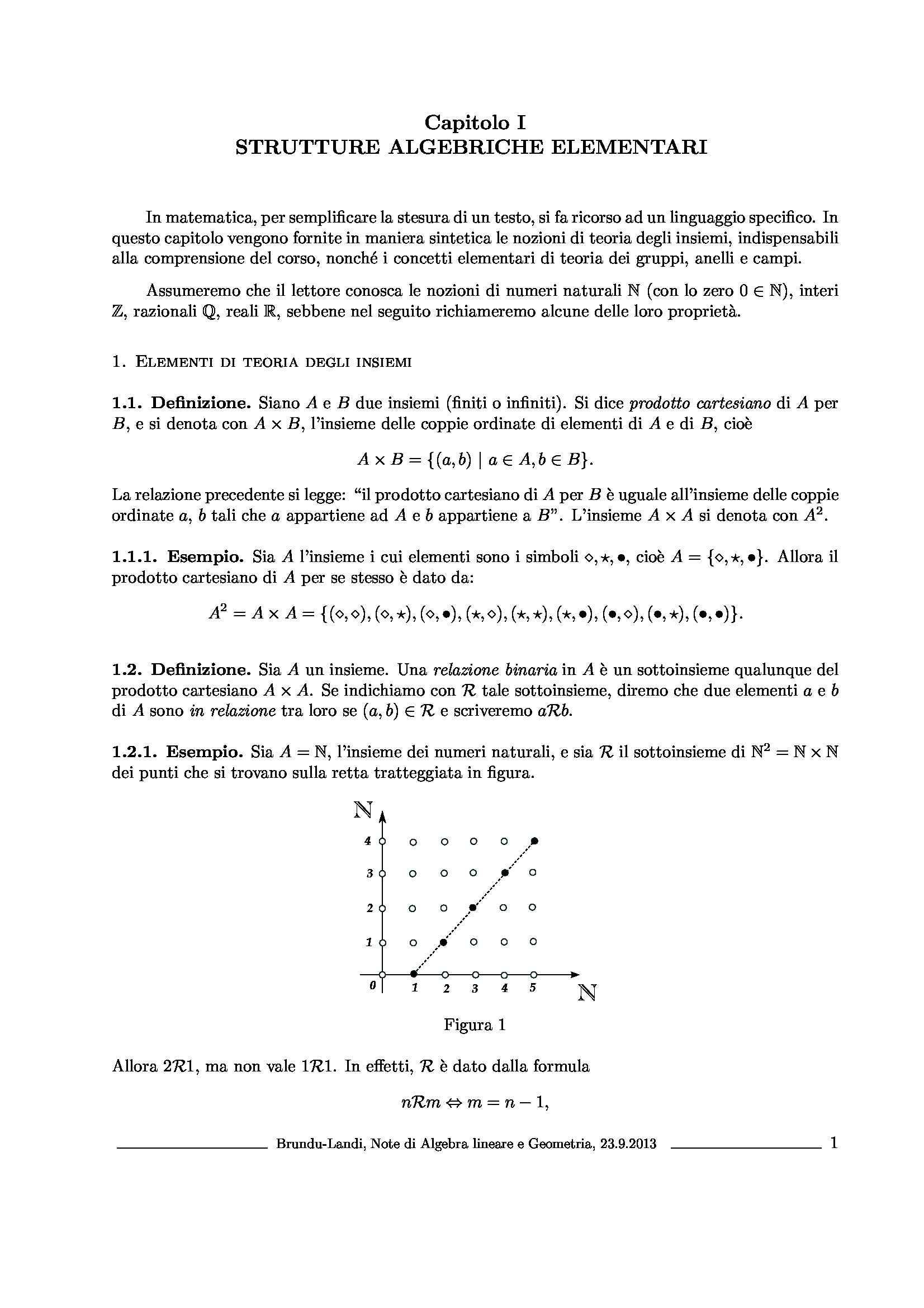 Dispensa di Matematica - Strutture algebriche elementari