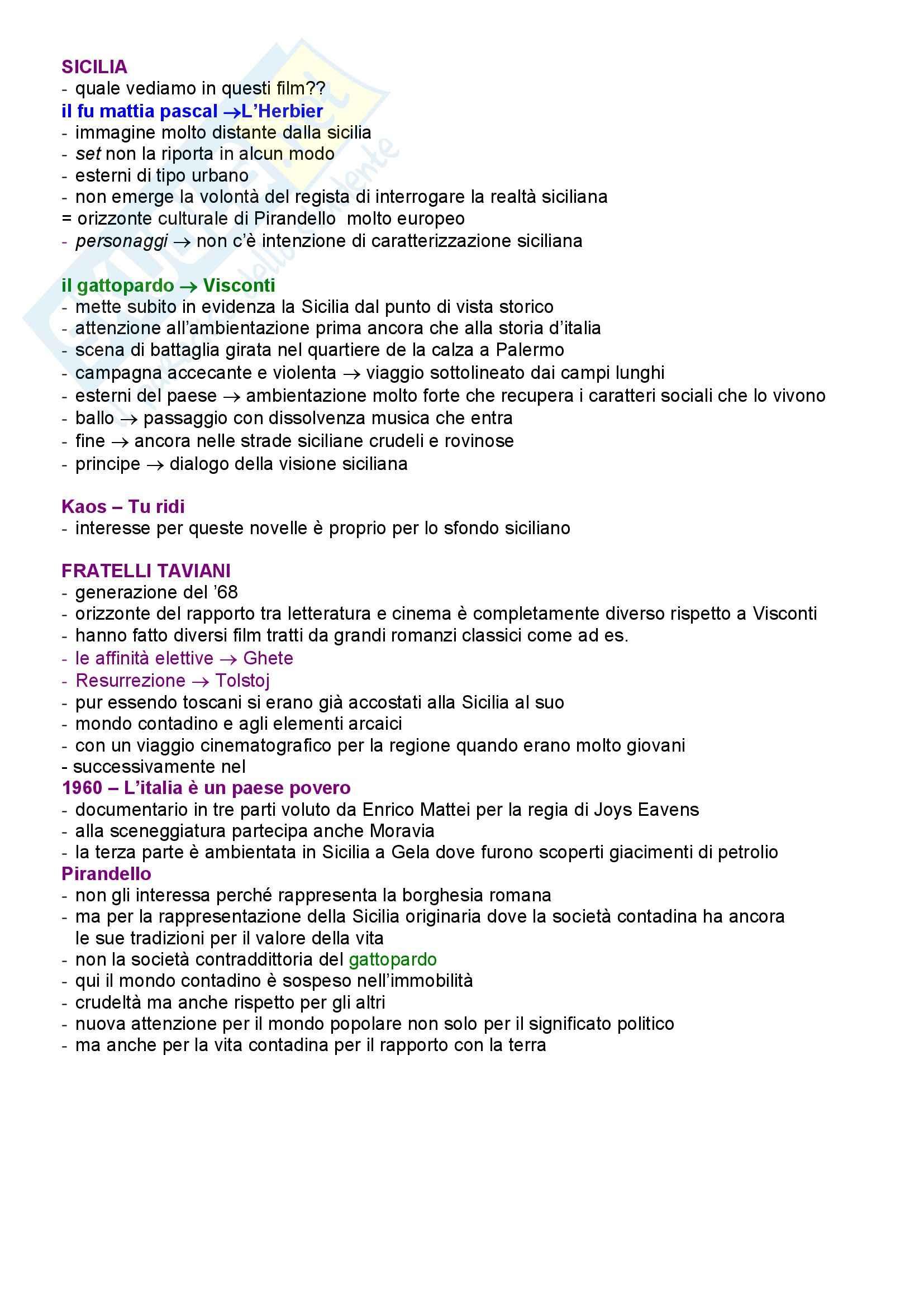 appunto G. Ferroni Letteratura e Cinema