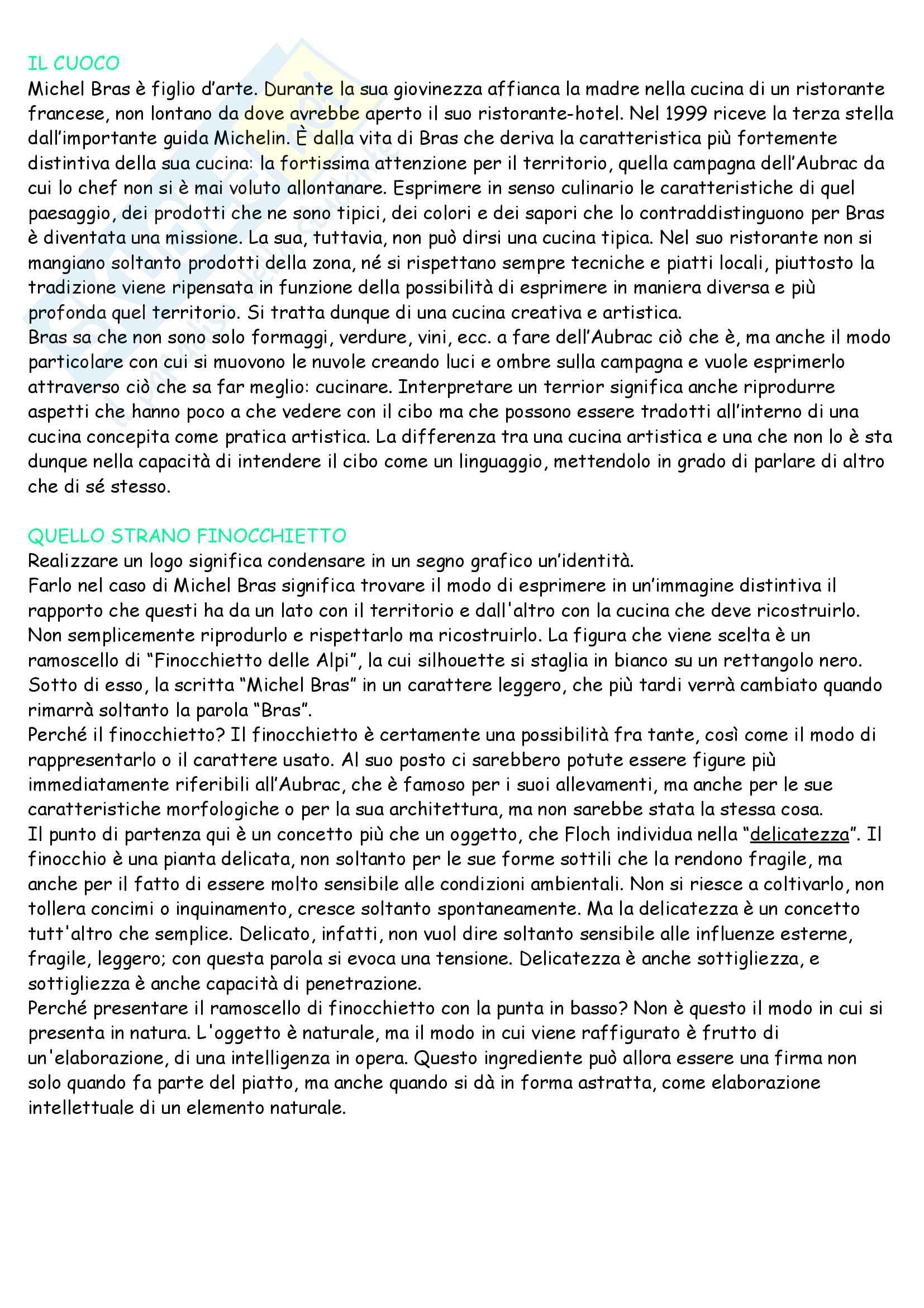 Riassunto per esame di semiotica della comunicazione, docente Giovanni Marrone, libro di testo consigliato Che cos è il food design, Dario Mangano Pag. 26