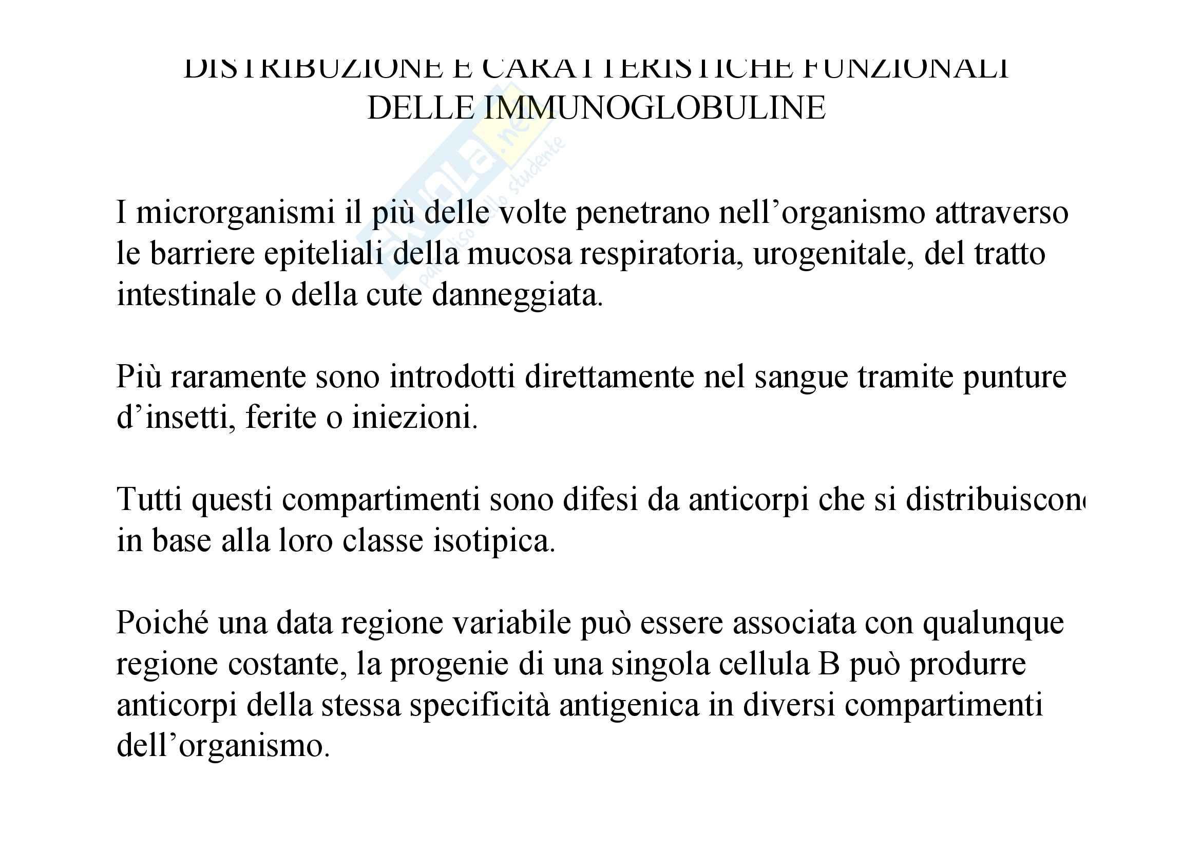 Immunologia - immunoglobuline Pag. 2