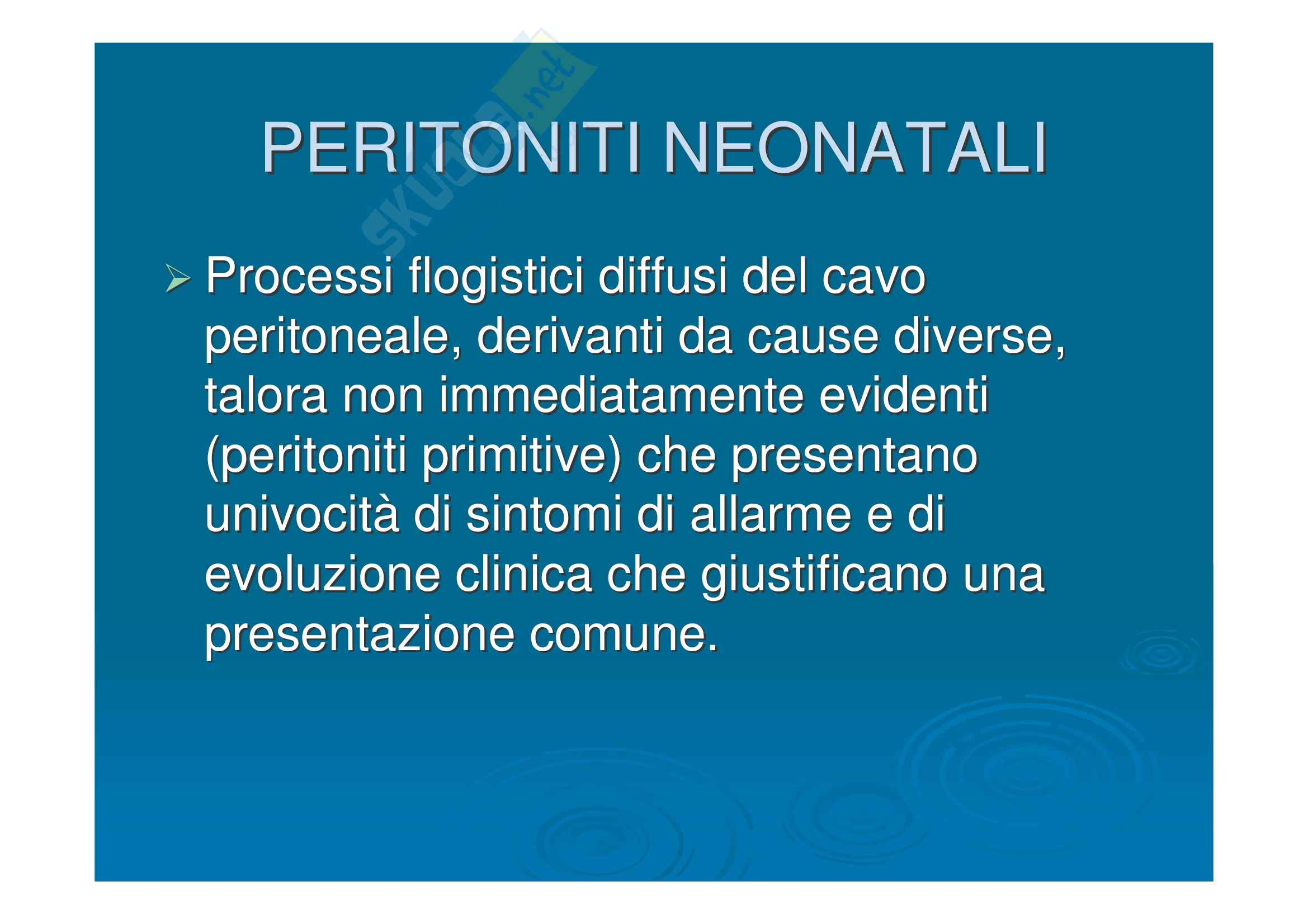 Pediatria - peritonite acuta