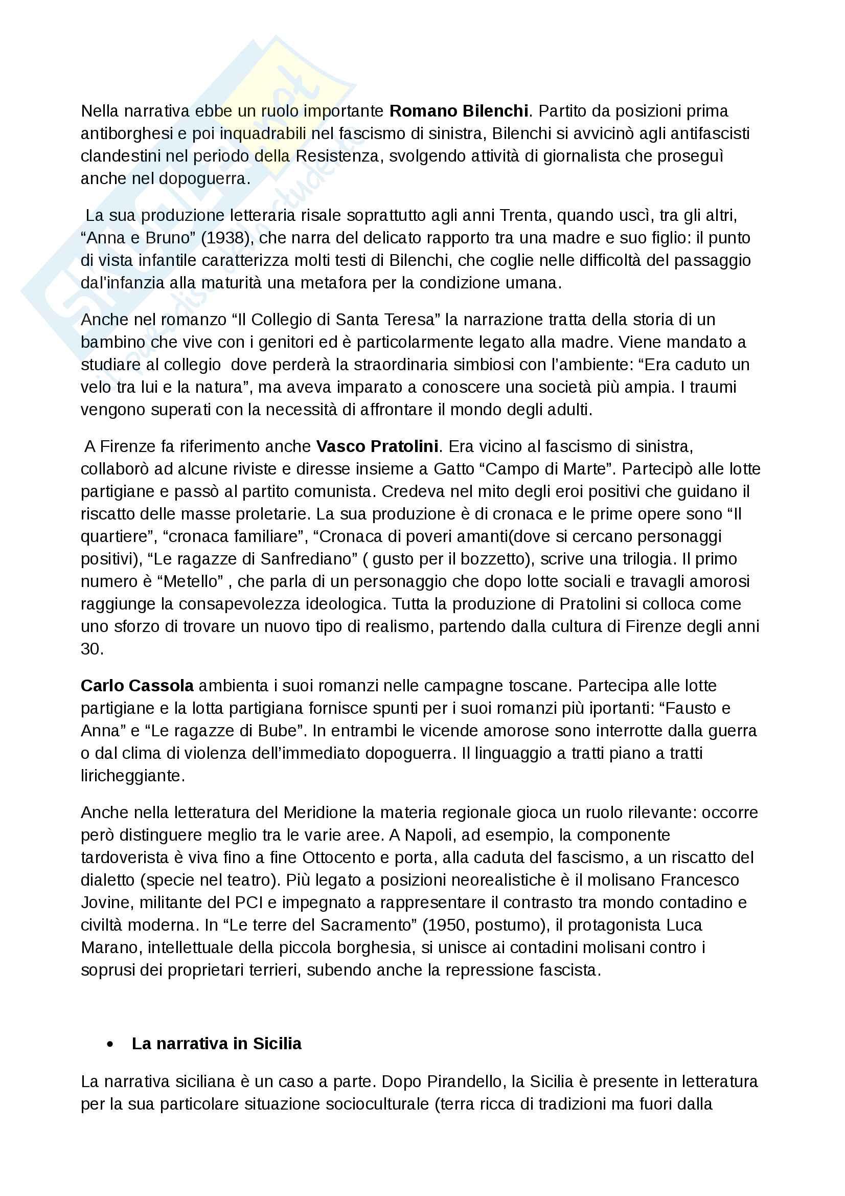 Riassunto di letteratura italiana contemporanea Pag. 11