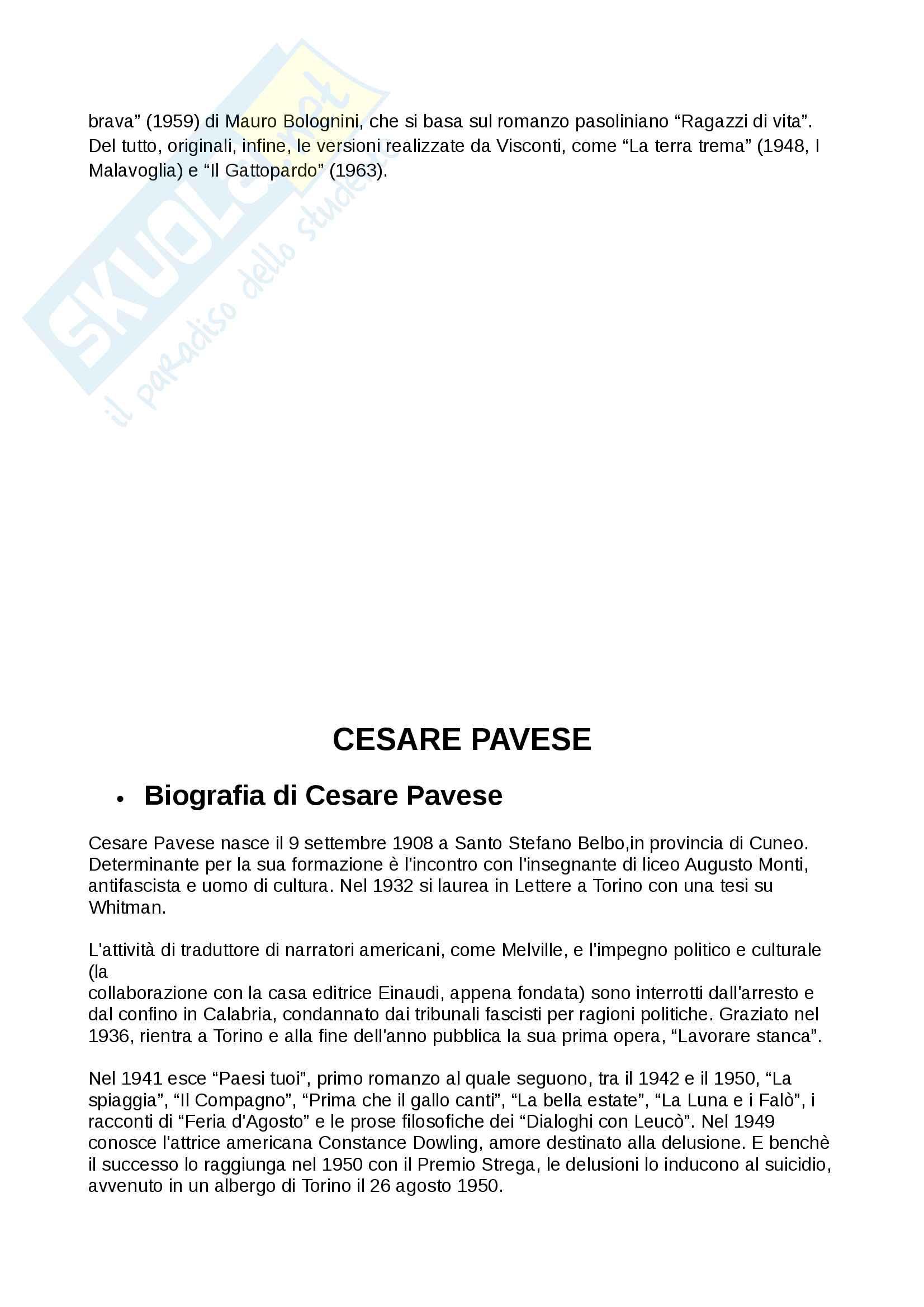 Riassunto di letteratura italiana contemporanea Pag. 16