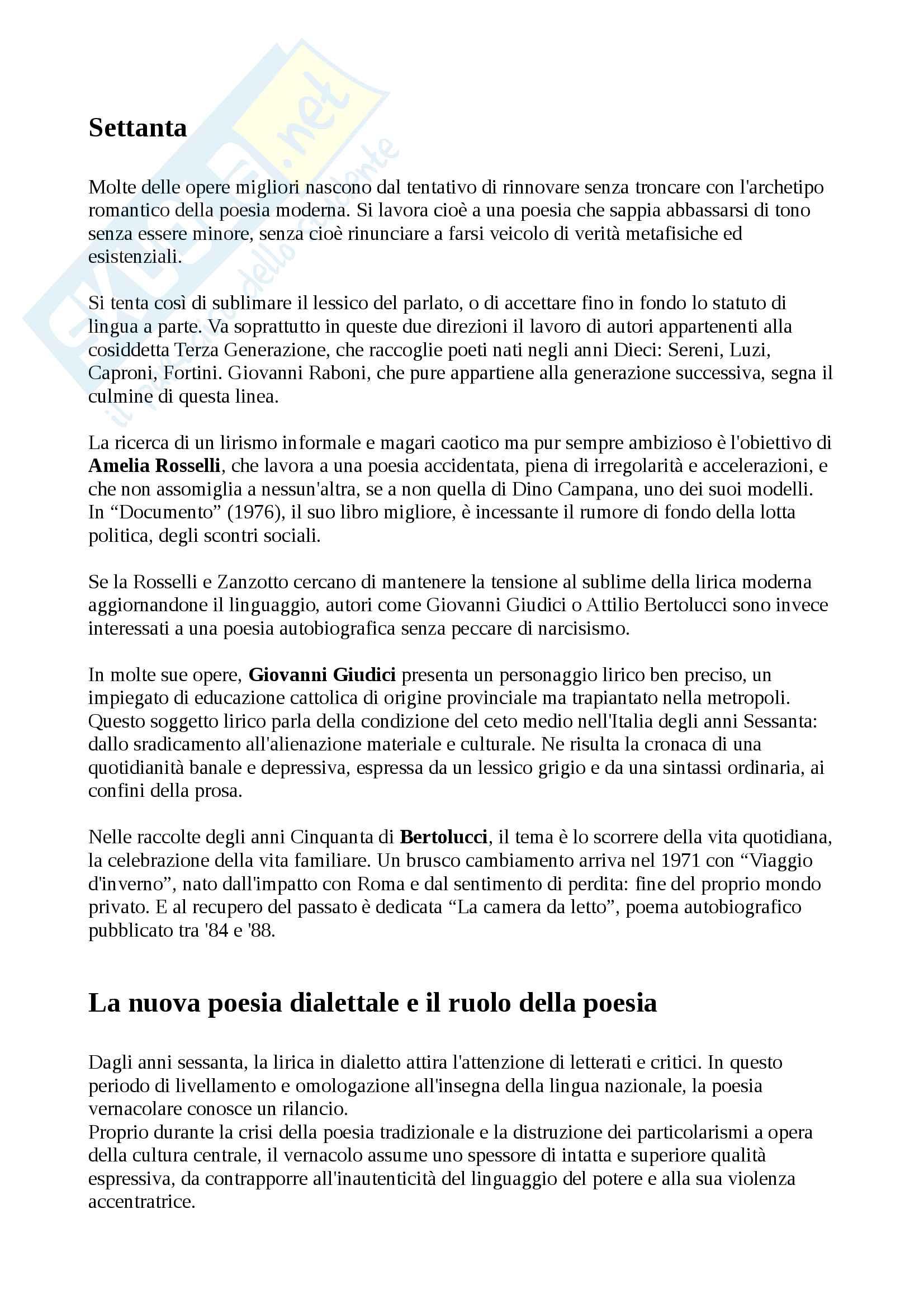 Riassunto di letteratura italiana contemporanea Pag. 41
