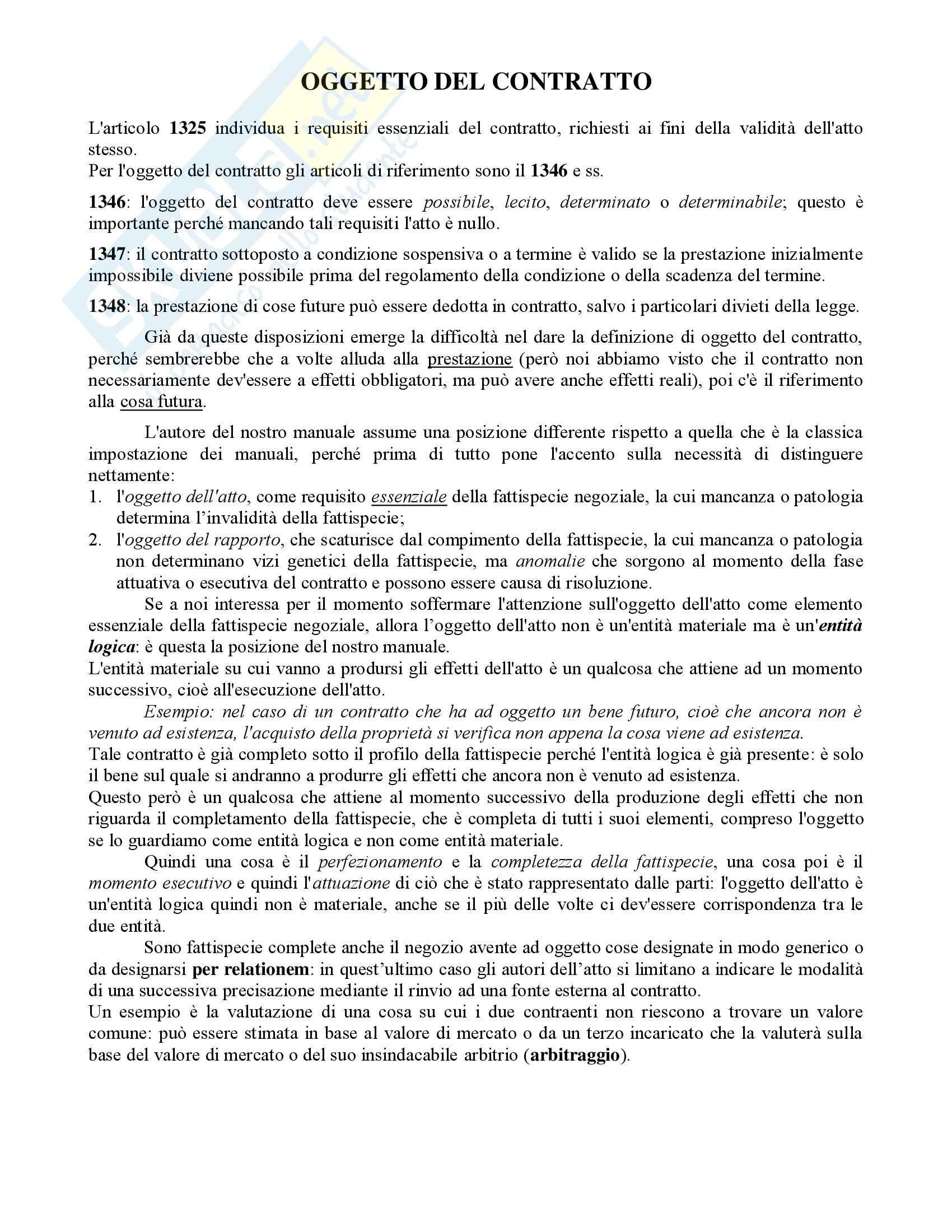 Diritto Civile - Perlingieri – Contratto – Riassunto esame