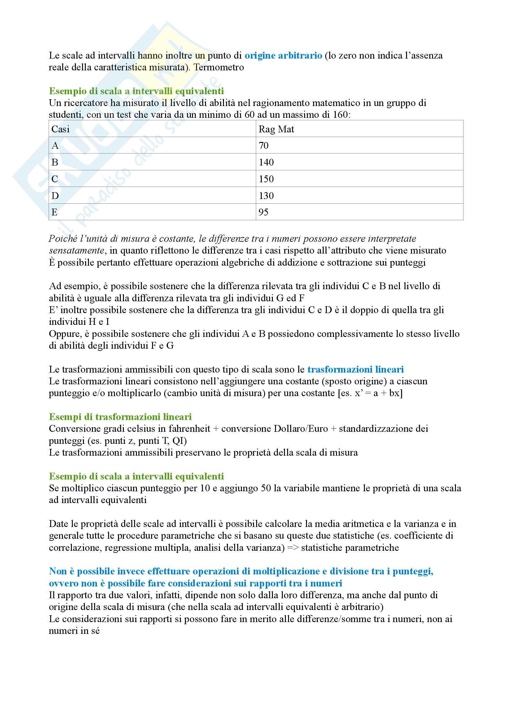Psicometria: Le scale di misura Pag. 6