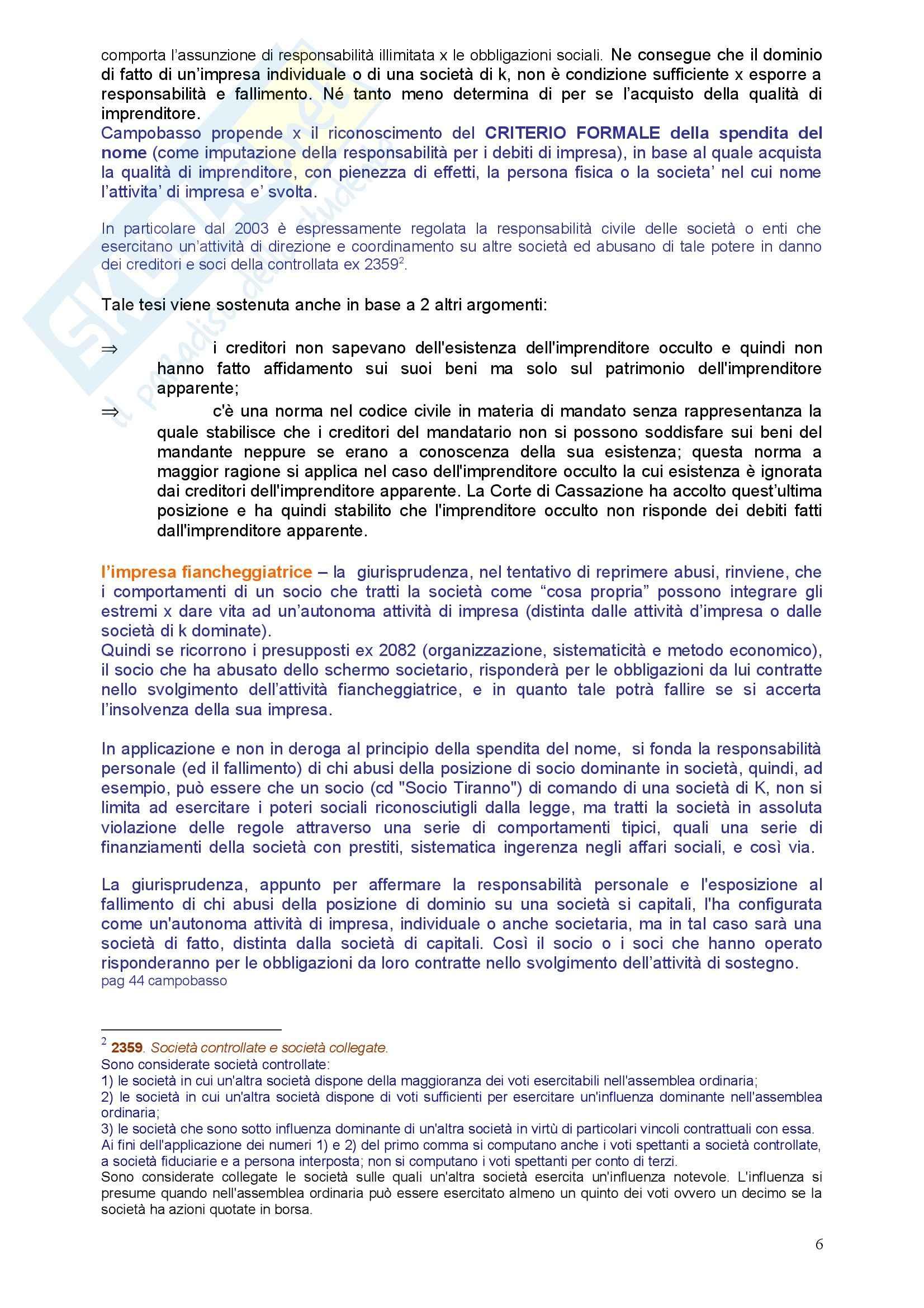Diritto commerciale - l'imprenditore Pag. 6