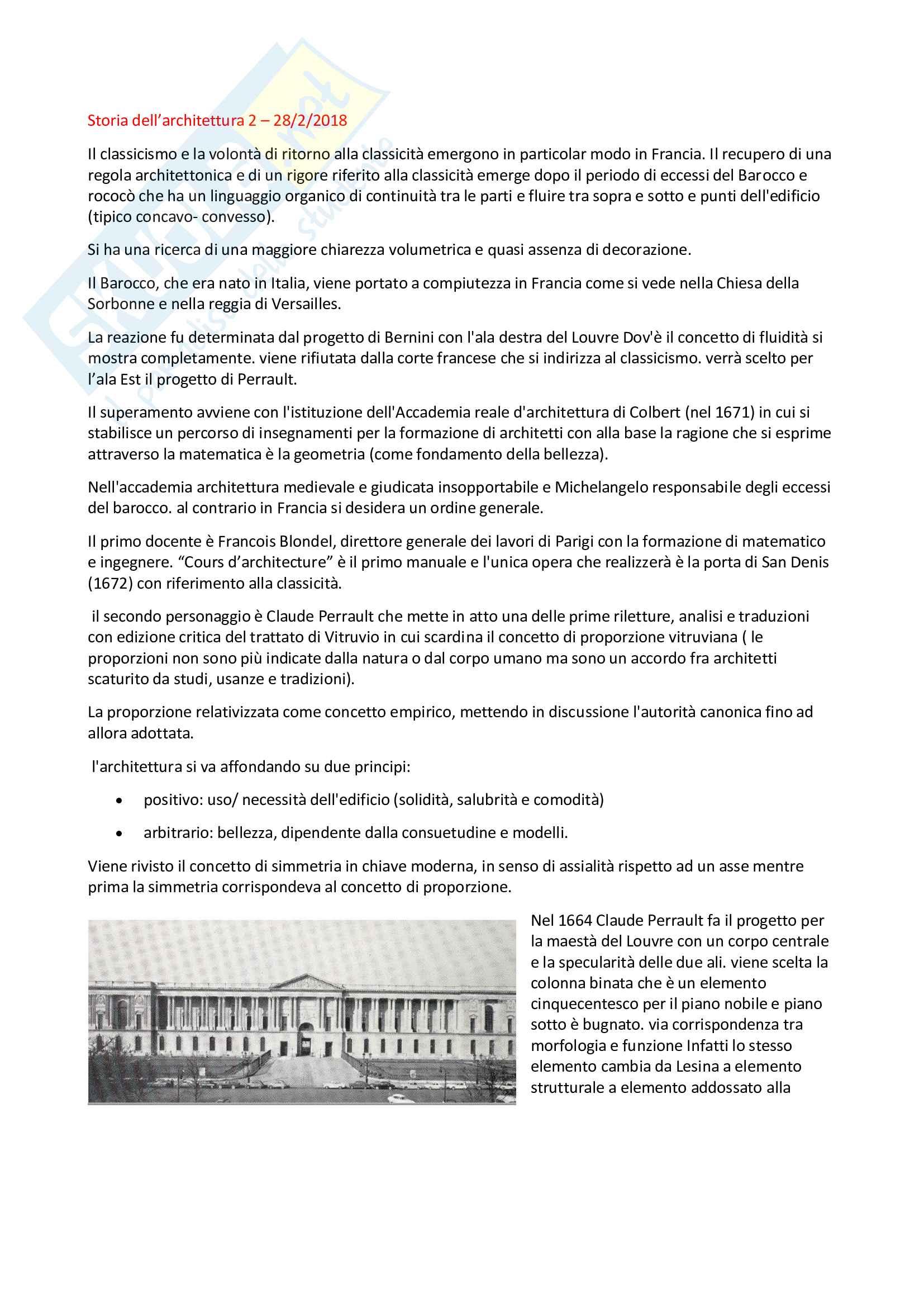 Storia dell'architettura 2, Iacobone, Lezioni