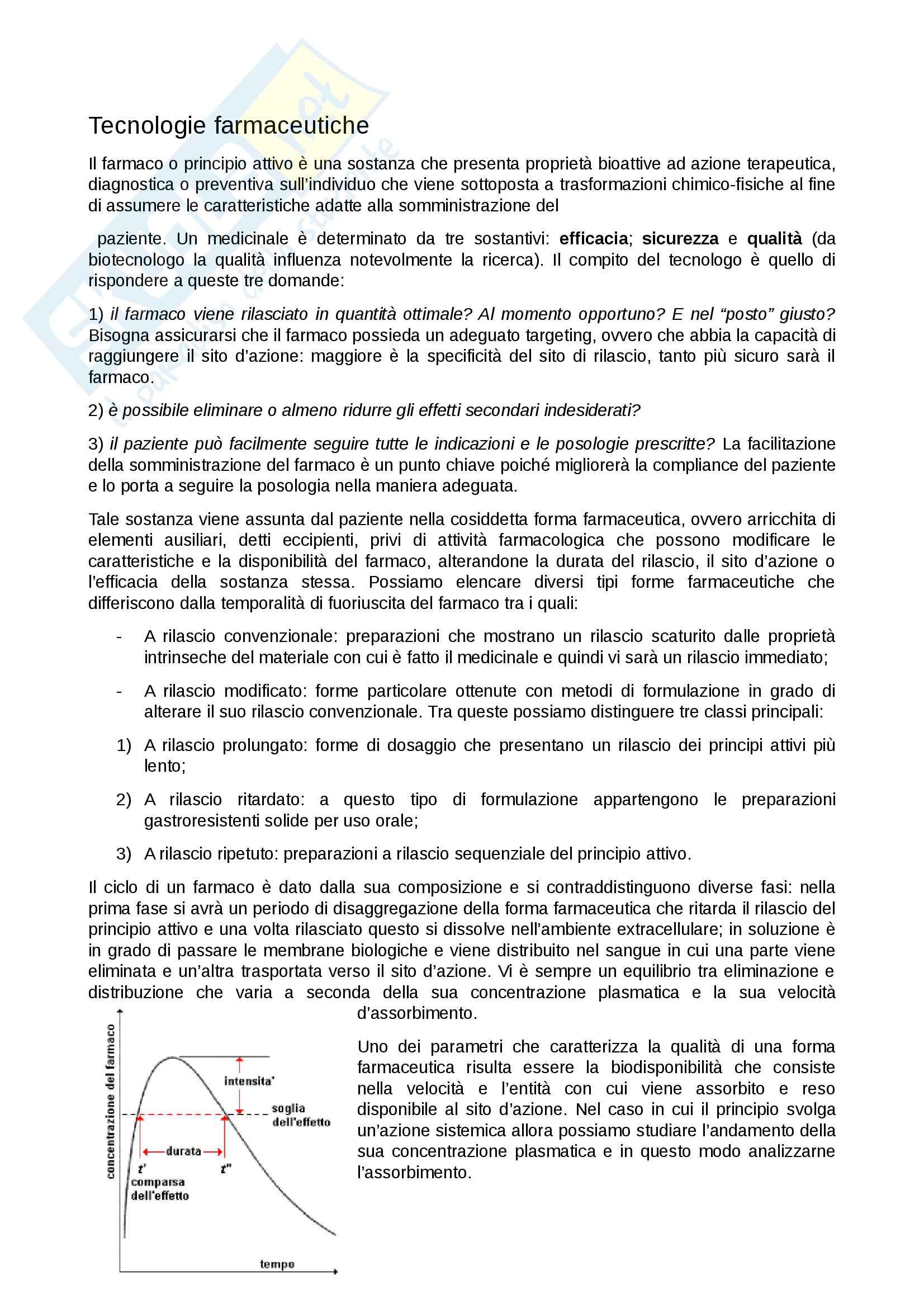 appunto F. Alhaique Tecnologie farmaceutiche