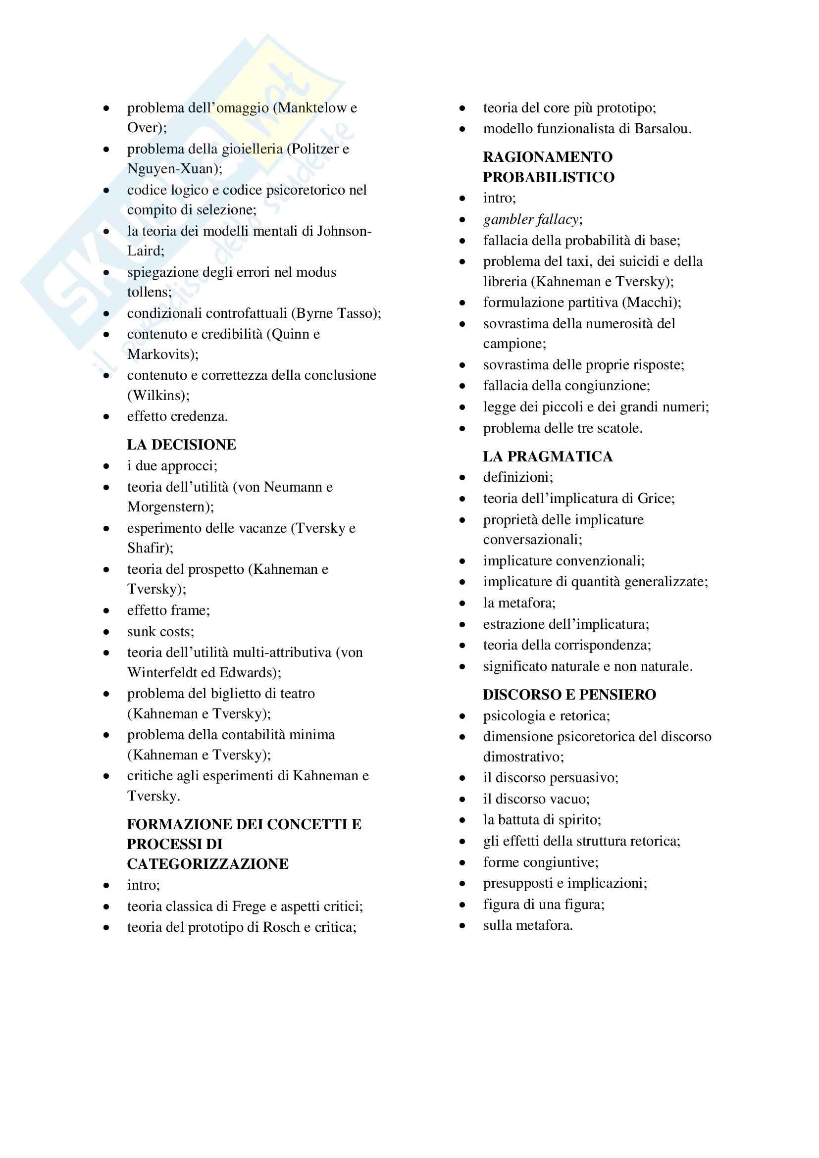 Psicologia Generale 2 - Macchi - 40 pagine - il riassunto perfetto del corso Pag. 2