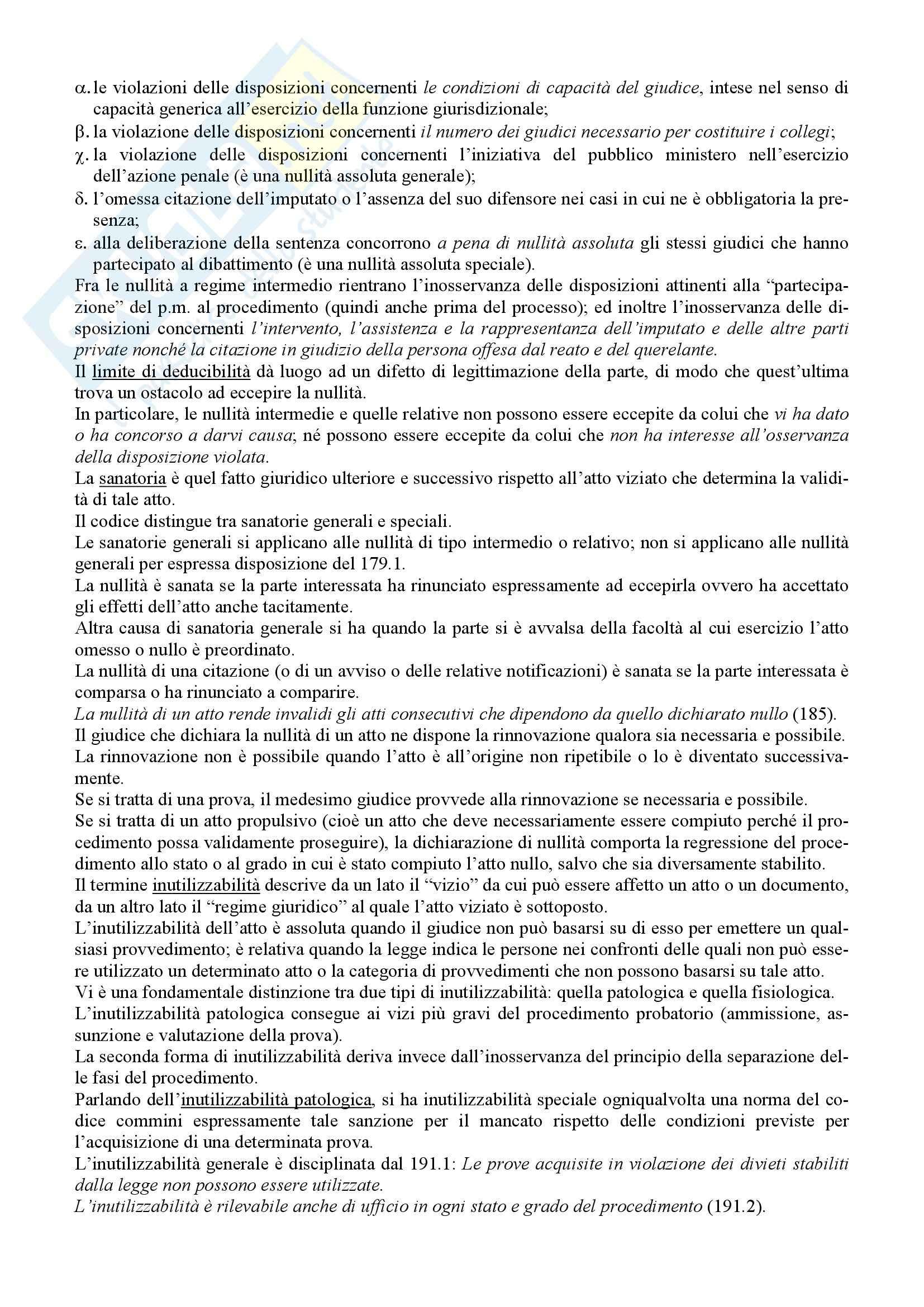 Riassunto esame Diritto Processuale Penale, prof. Giostra, libro consigliato Lineamenti di diritto processuale penale, Tonini Pag. 16