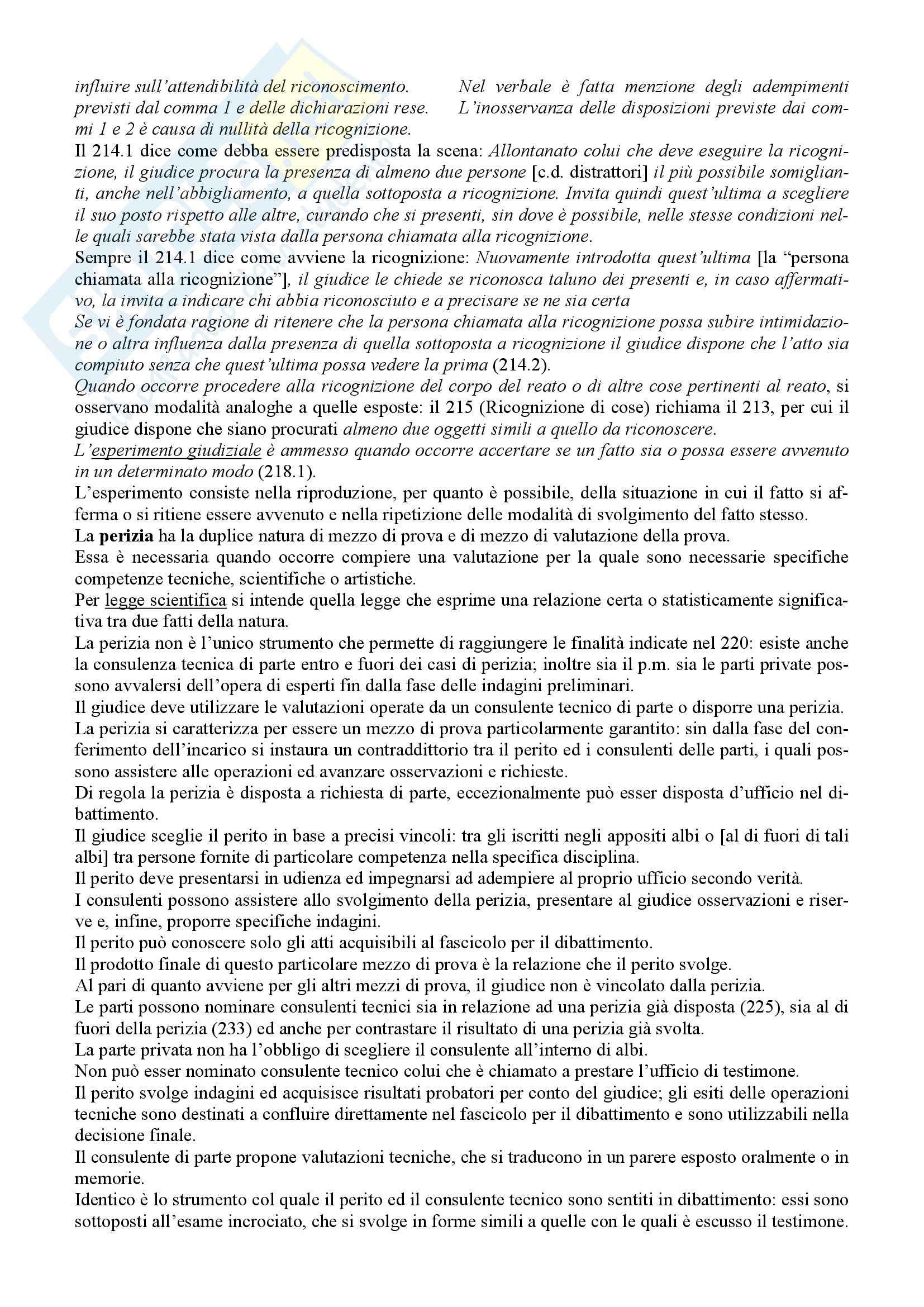 Riassunto esame Diritto Processuale Penale, prof. Giostra, libro consigliato Lineamenti di diritto processuale penale, Tonini Pag. 26