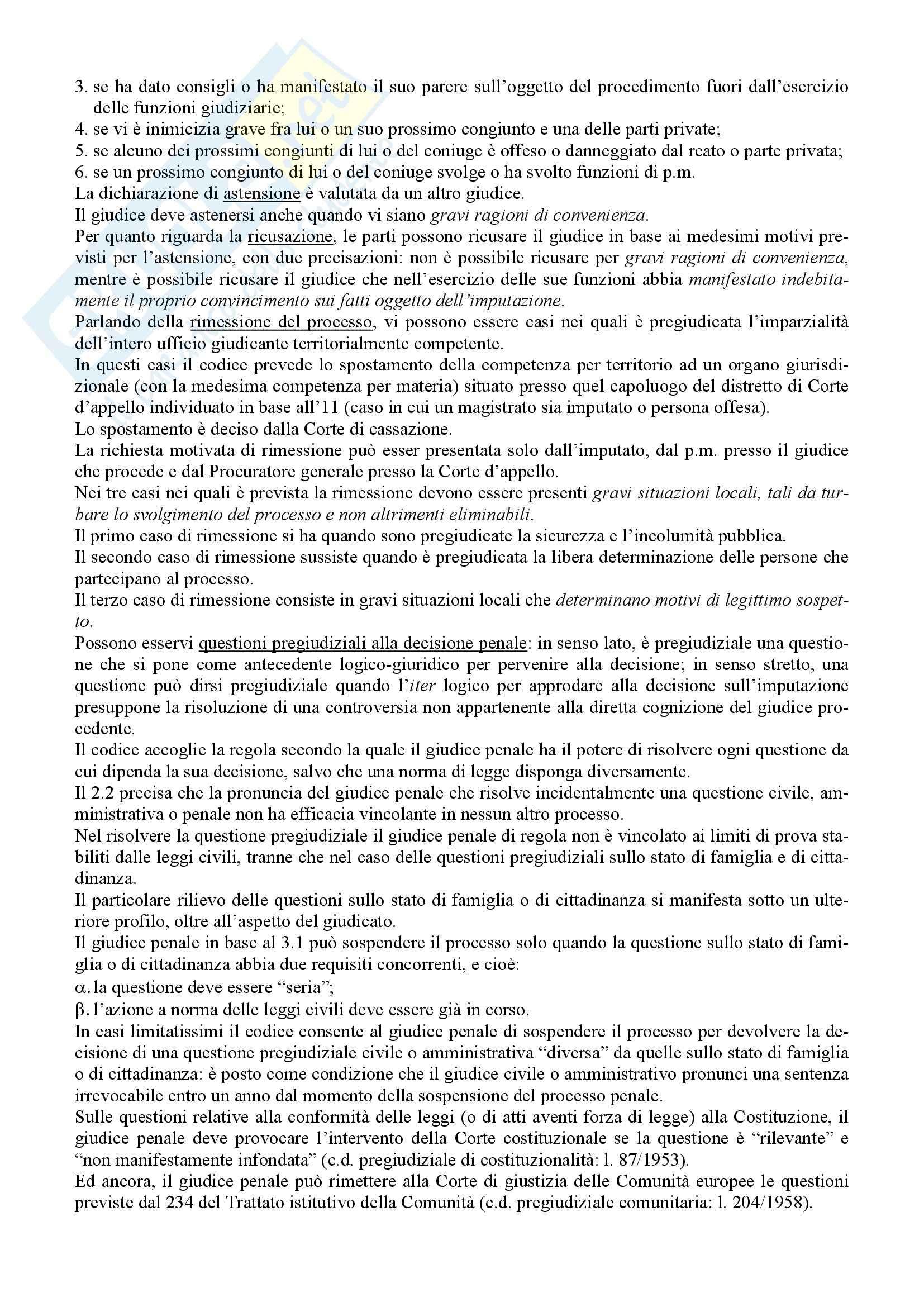 Riassunto esame Diritto Processuale Penale, prof. Giostra, libro consigliato Lineamenti di diritto processuale penale, Tonini Pag. 6