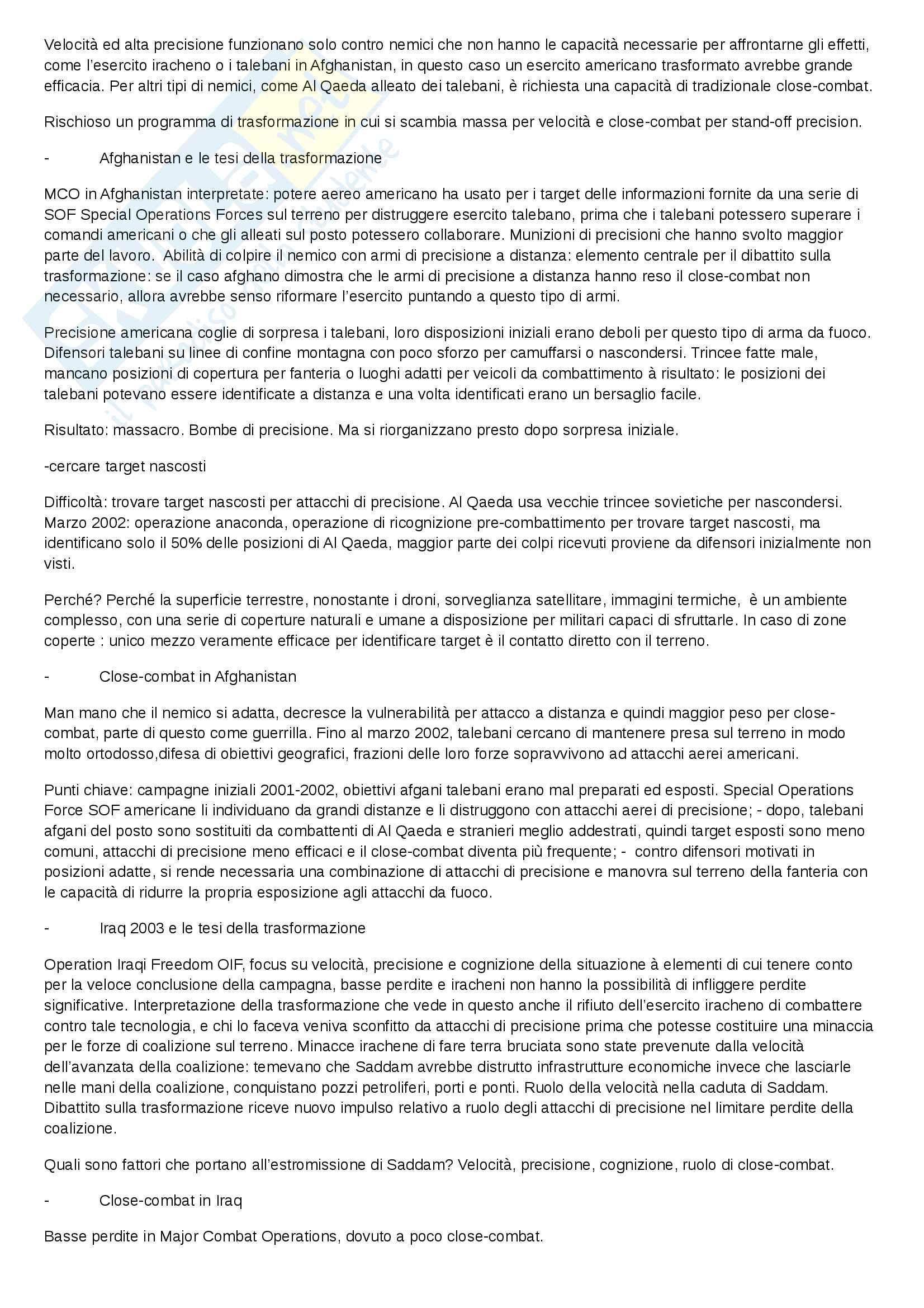 Riassunto esame Studi Strategici, docente Valigi, libro consigliato Strategy in the contemporary world, Baylis, Wirtz, Gray Pag. 36