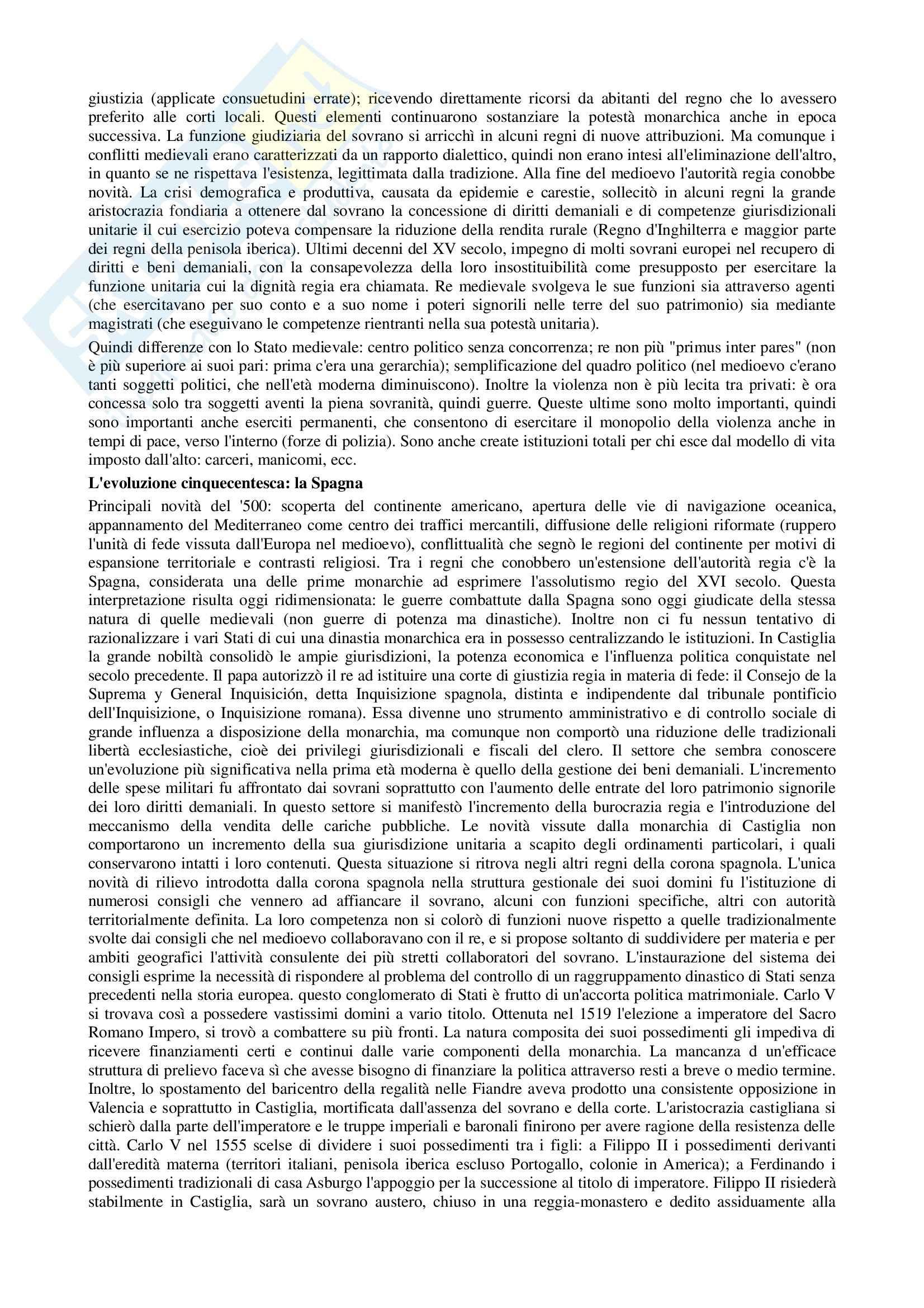 Riassunto esame Storia contemporanea, prof. Di Michele, libro consigliato Storia moderna, Donzelli Pag. 2