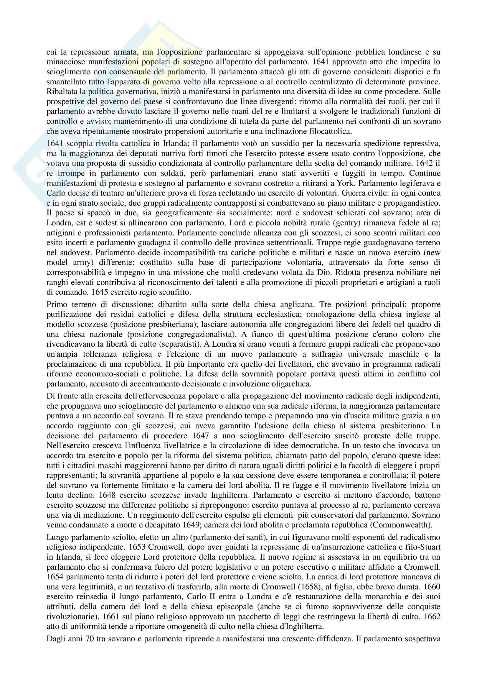 Riassunto esame Storia contemporanea, prof. Di Michele, libro consigliato Storia moderna, Donzelli Pag. 6