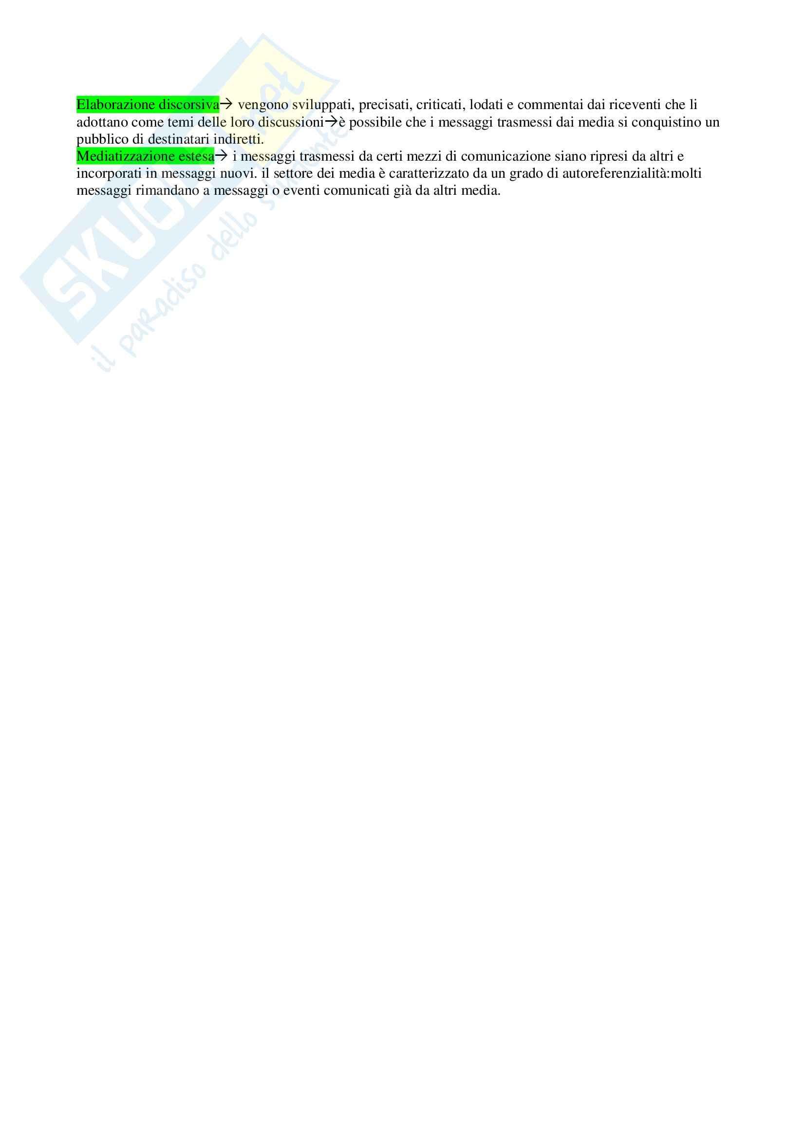Riassunto esame Mezzi di comunicazione e modernità, prof. Martino, libro consigliato Thompson Pag. 11