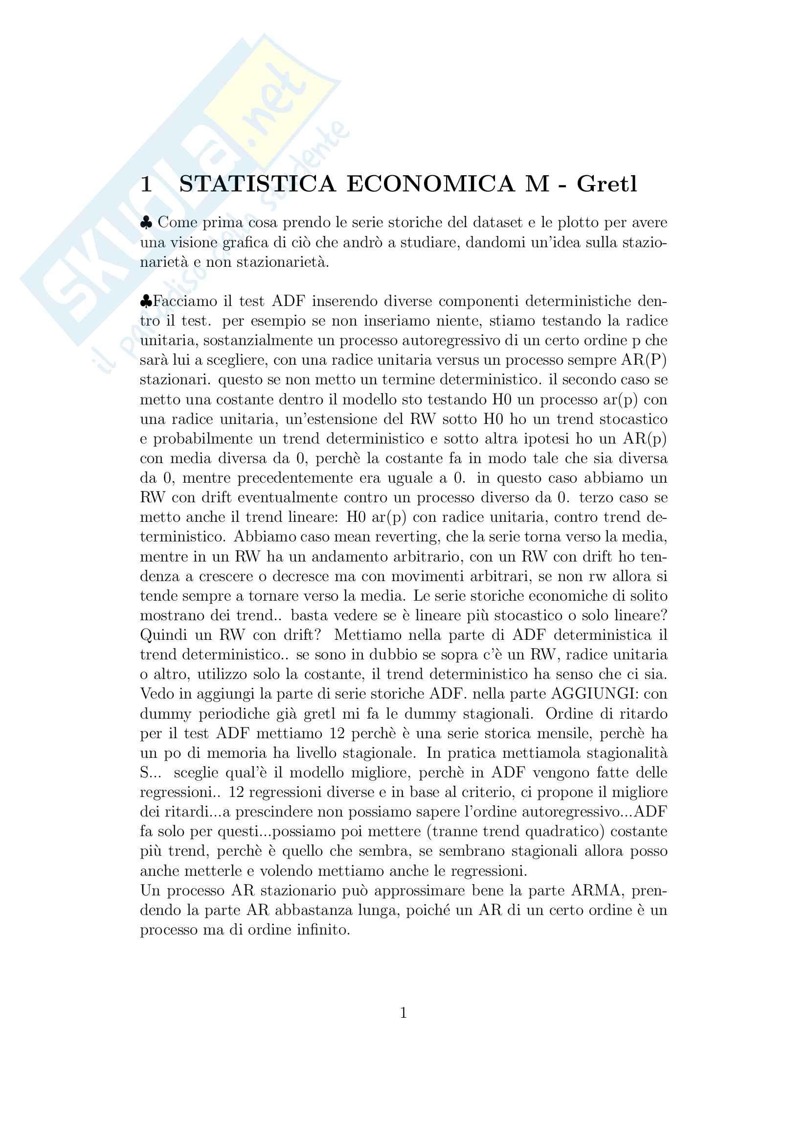 Esame Gretl statistica economica M