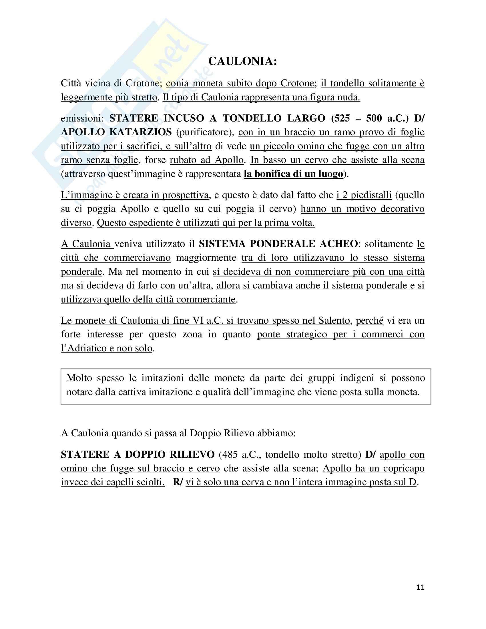 Numismatica antica e medievale - Appunti Pag. 11