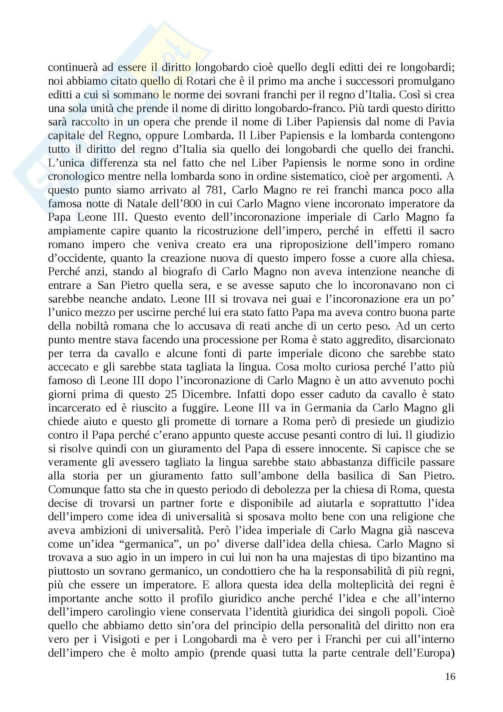 Lezioni, Storia del diritto medievale e moderno Pag. 16