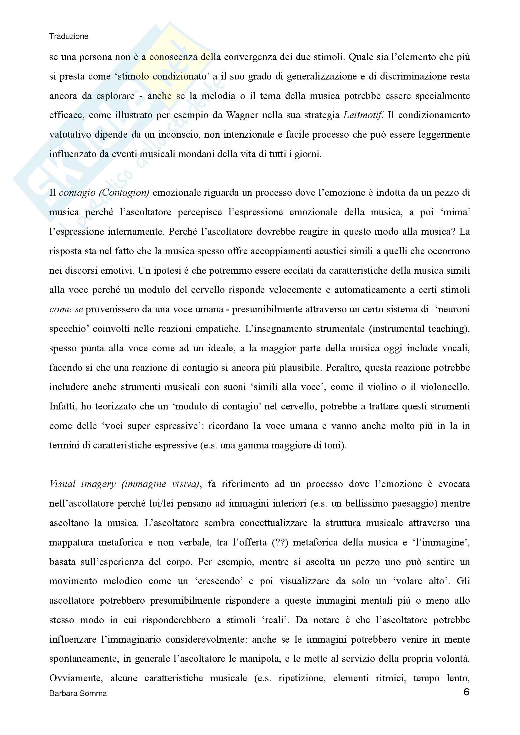 Music and Emotion- 7 questions 7 answers (Traduzione) Pag. 6