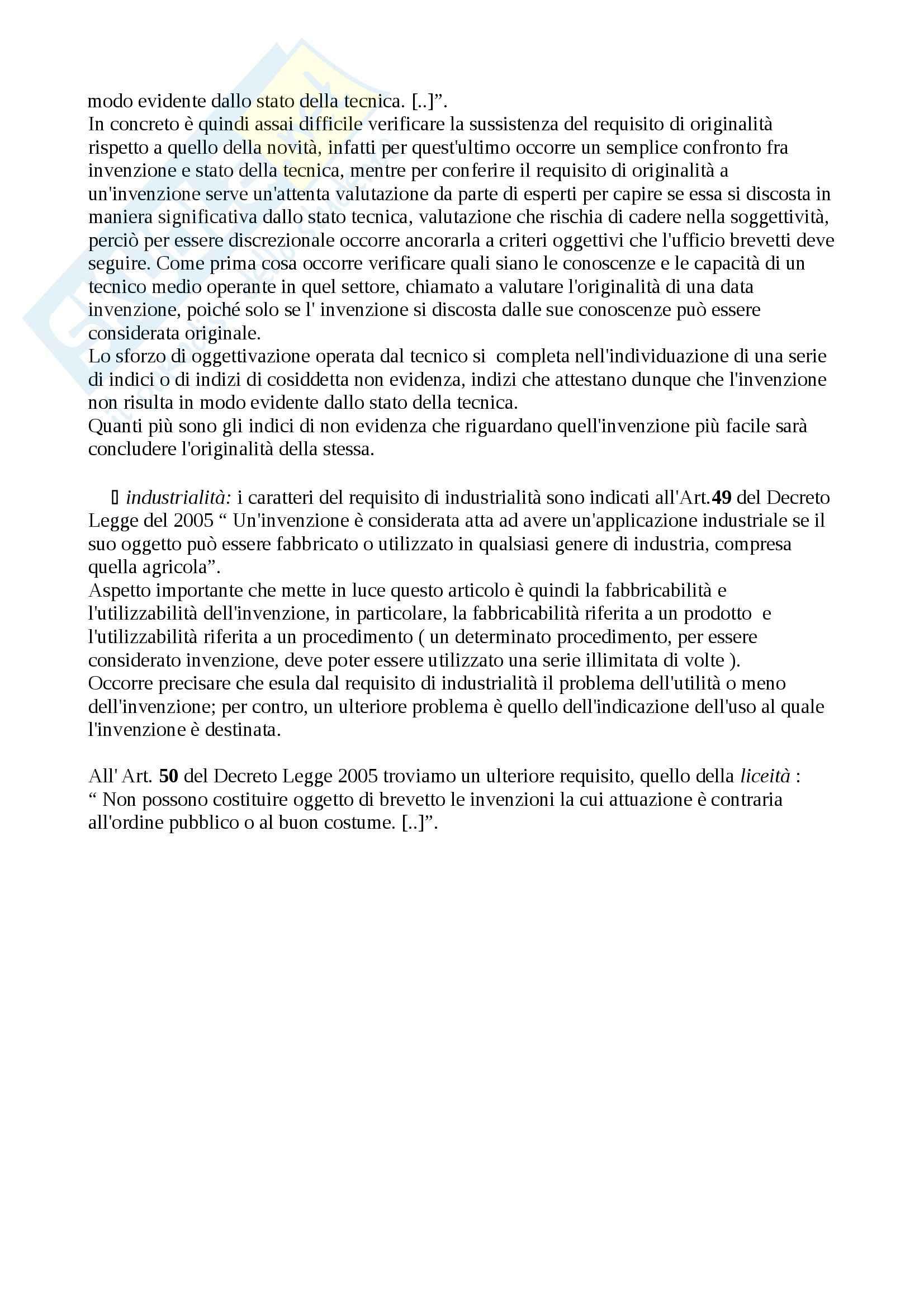 Proprietà intellettuale, Diritto commerciale Pag. 6