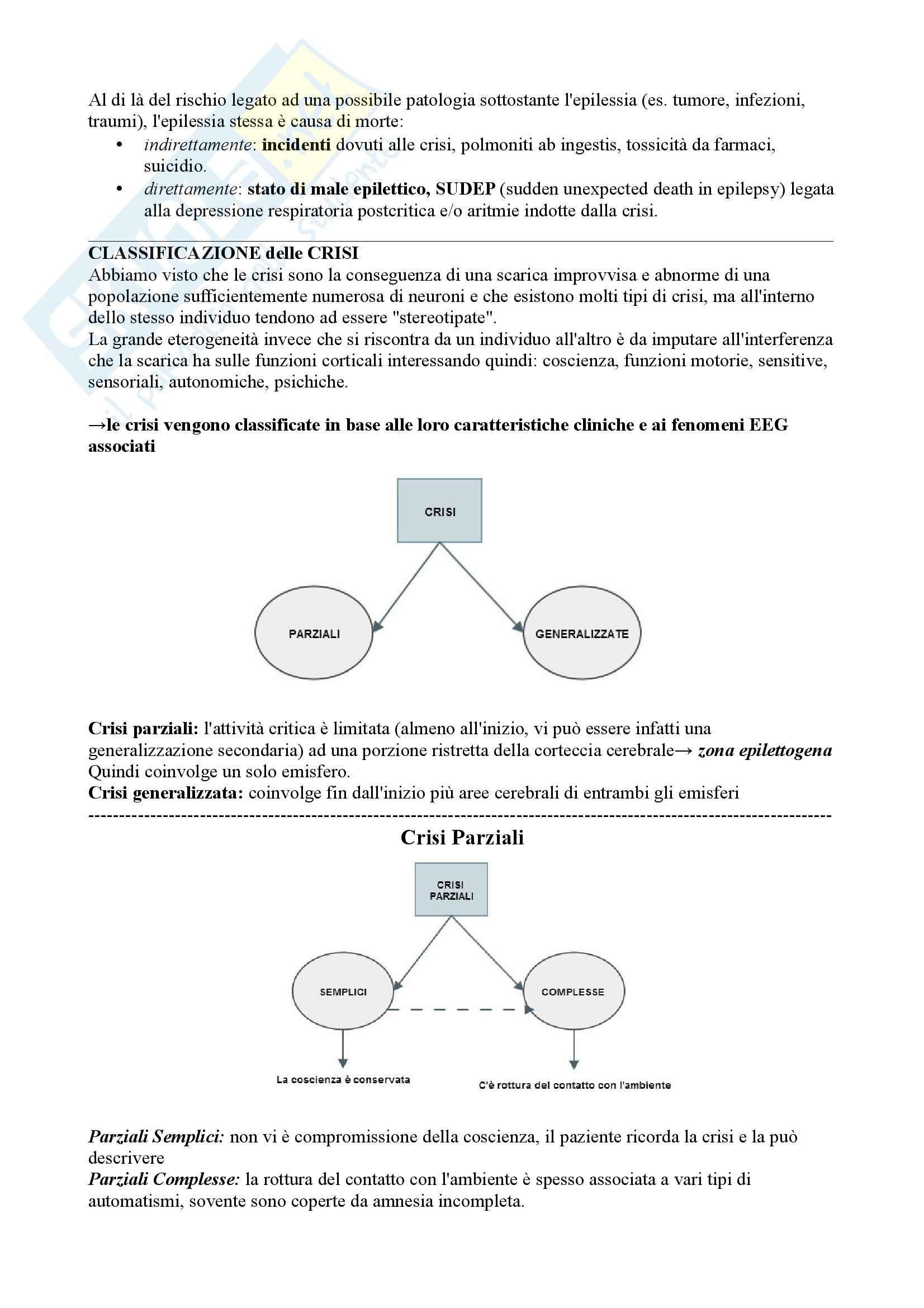 Riassunto esame Neurologia, prof.  Pinessi, Libro consigliato Il Bergamini di Neurologia, Bergamini: Epilessie Pag. 2