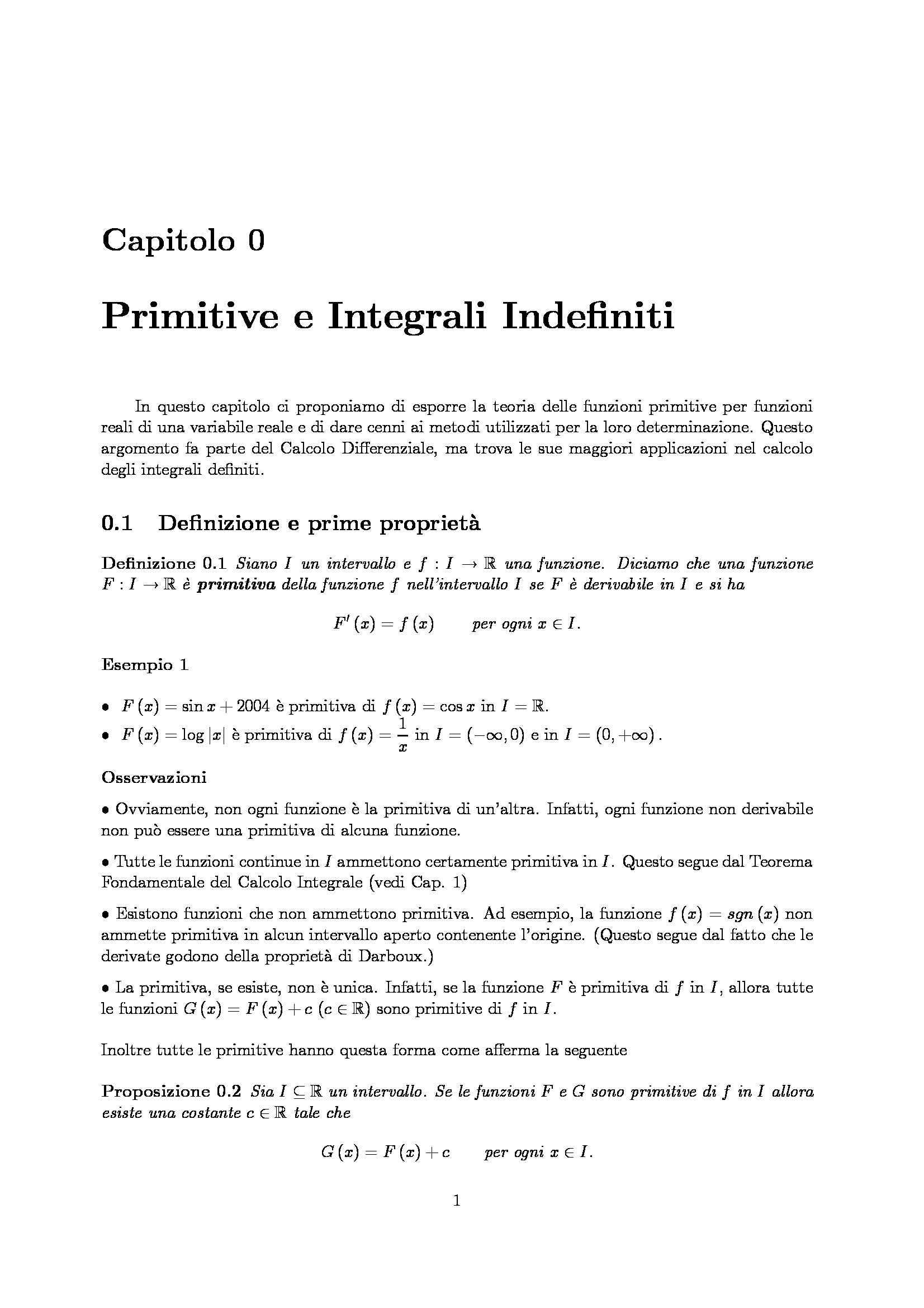 Dispensa di Matematica - Analisi matematica 2
