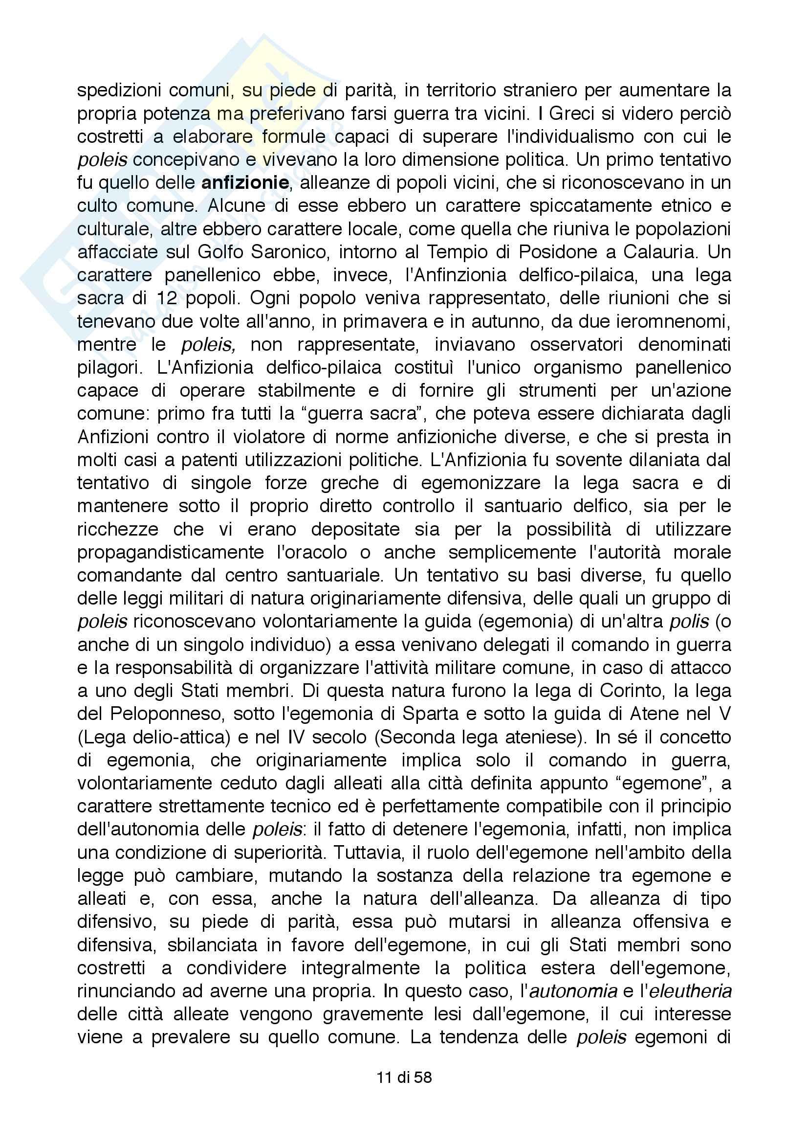 Riassunto esame Storia Greca, Docente Bianchetti Serena, Unversità degli Studi di Firenze Pag. 11