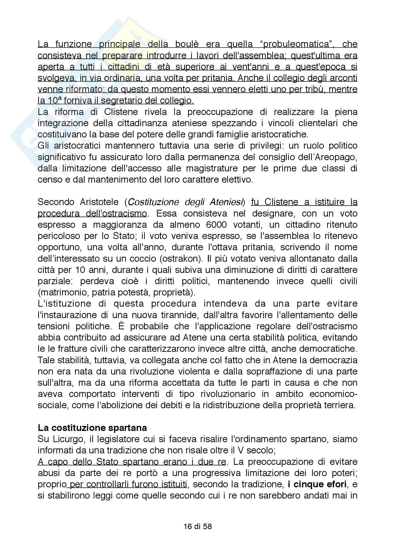 Riassunto esame Storia Greca, Docente Bianchetti Serena, Unversità degli Studi di Firenze Pag. 16
