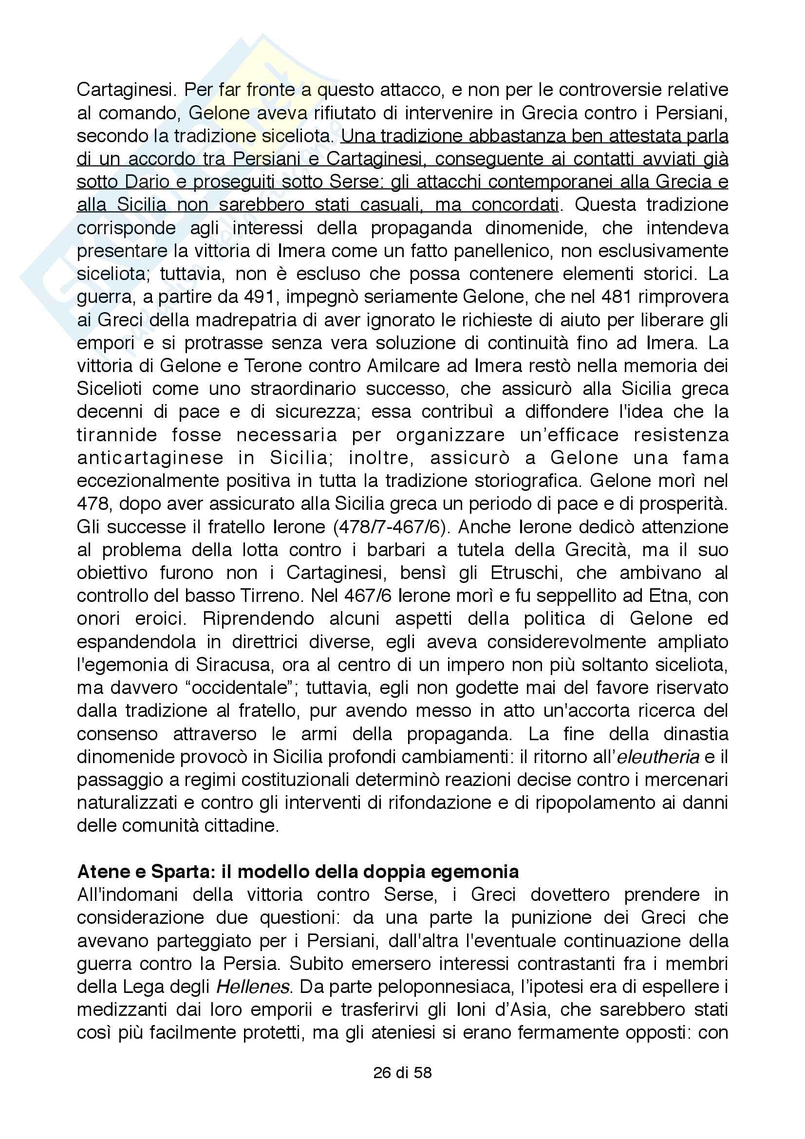Riassunto esame Storia Greca, Docente Bianchetti Serena, Unversità degli Studi di Firenze Pag. 26