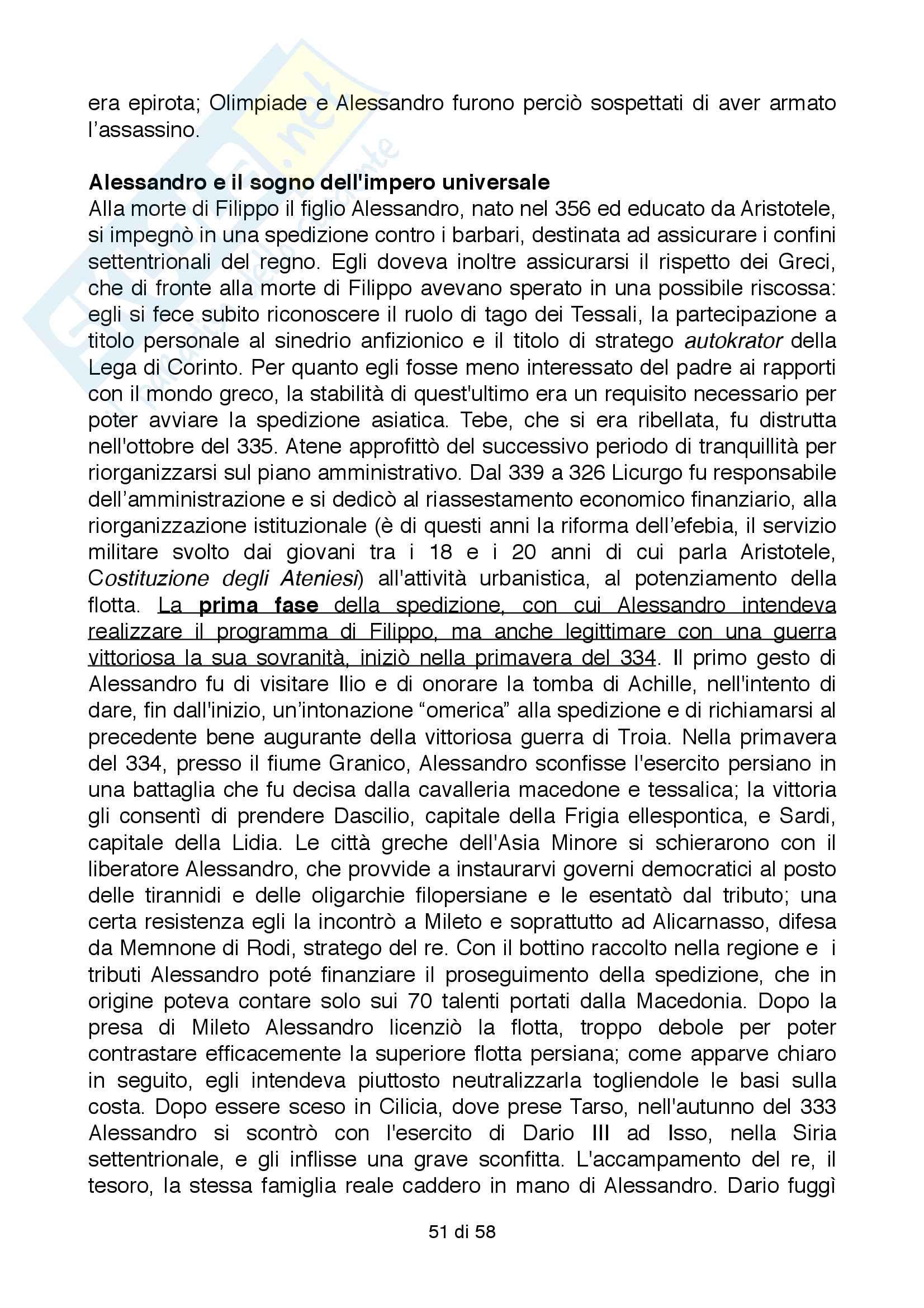 Riassunto esame Storia Greca, Docente Bianchetti Serena, Unversità degli Studi di Firenze Pag. 51