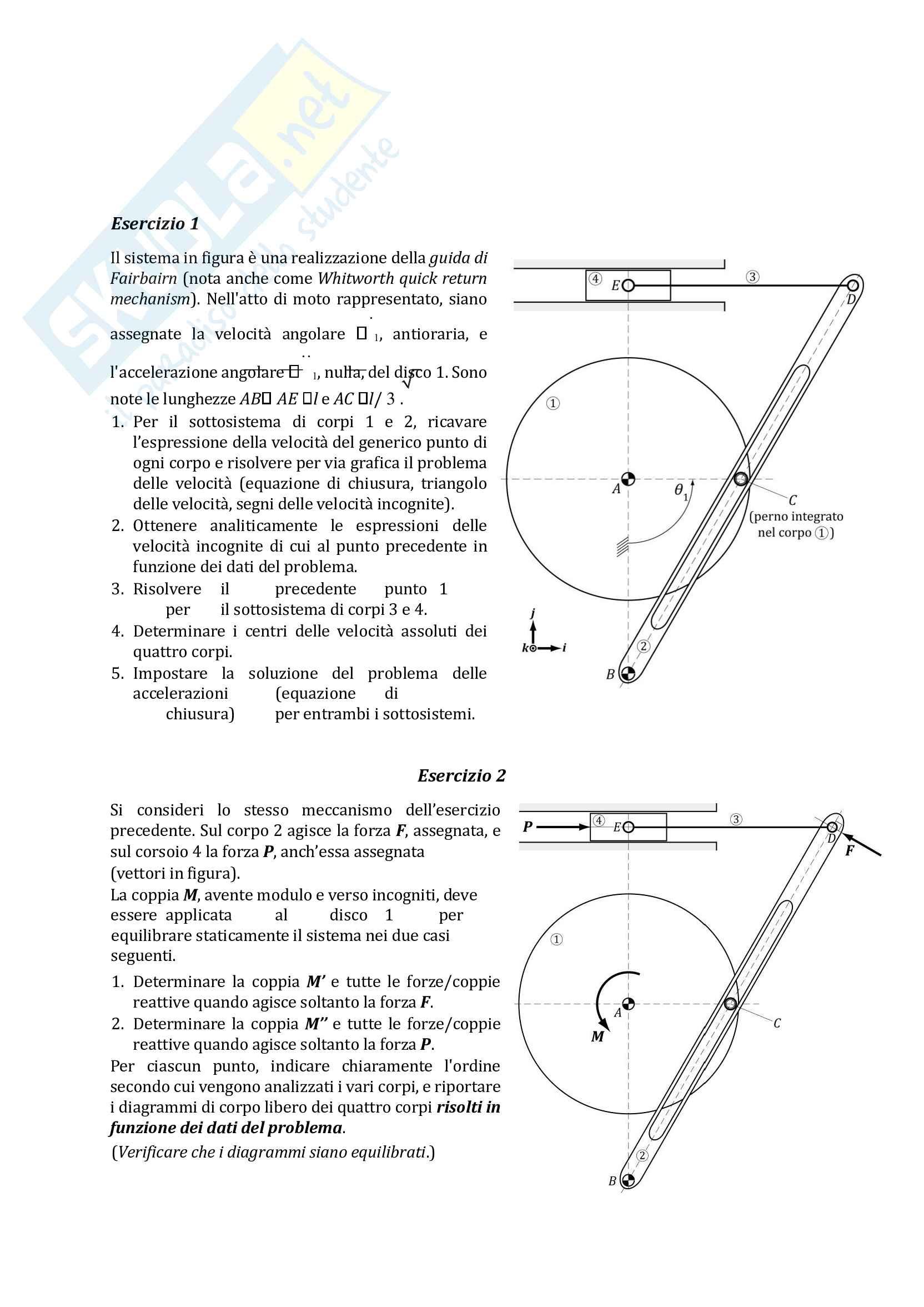 esame meccanica applicata