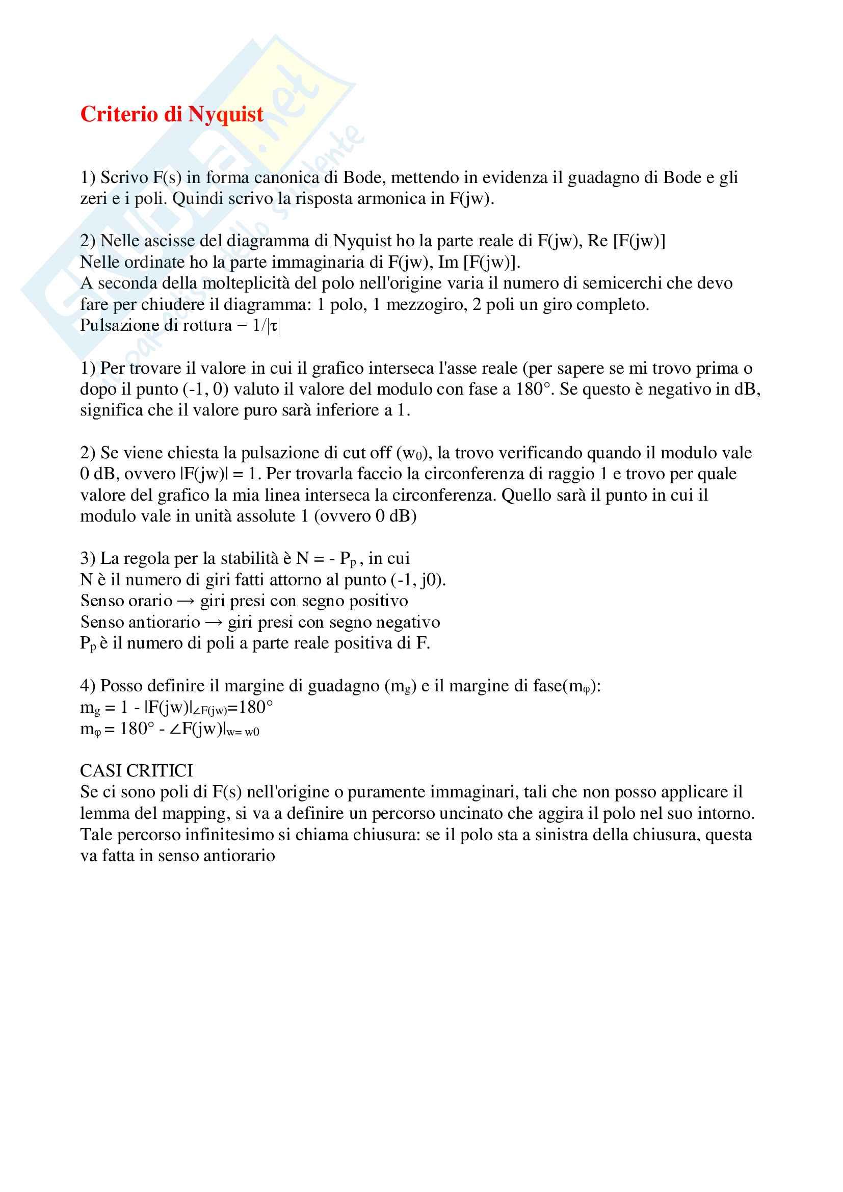 Spiegazione esercizi esame scritto Controlli automatici Pag. 2