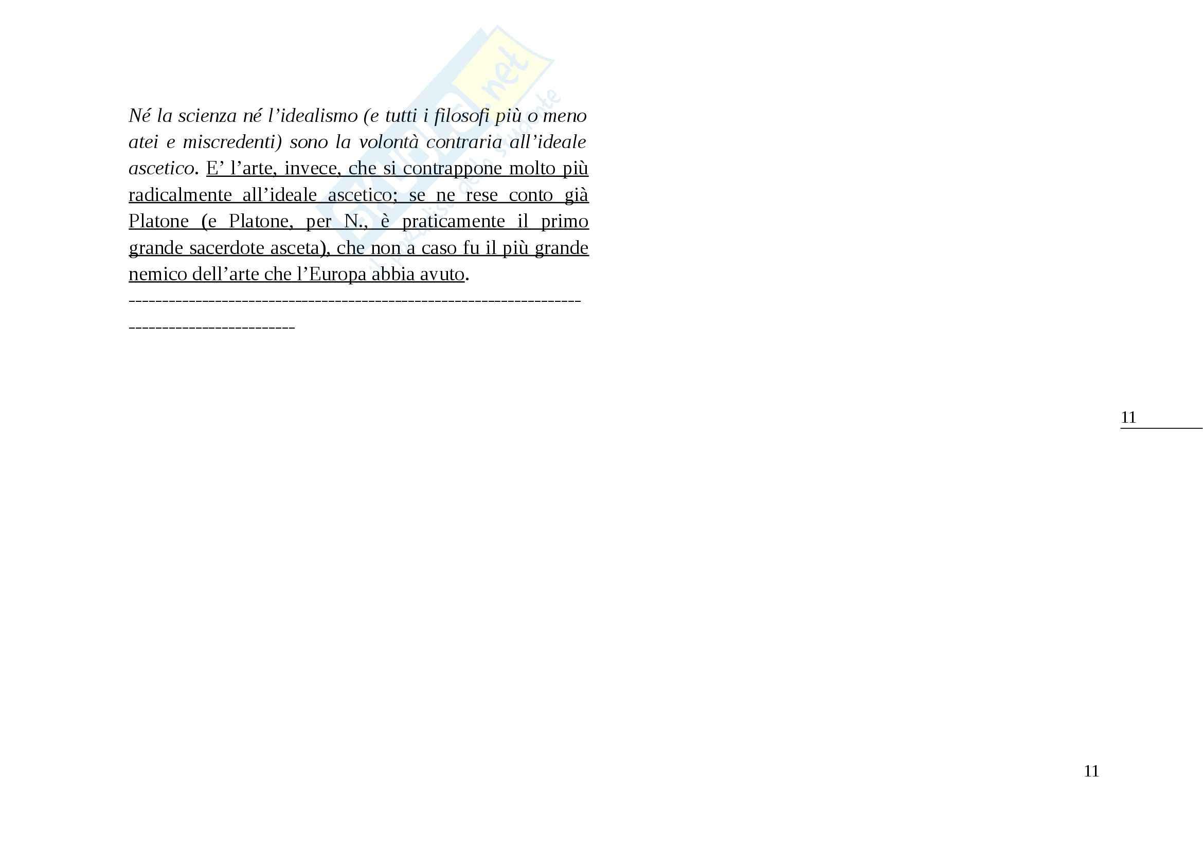 Riassunto esame Filosofia Morale, prof. Martelli, libro consigliato Genealogia della Morale di Nietzsche Pag. 11