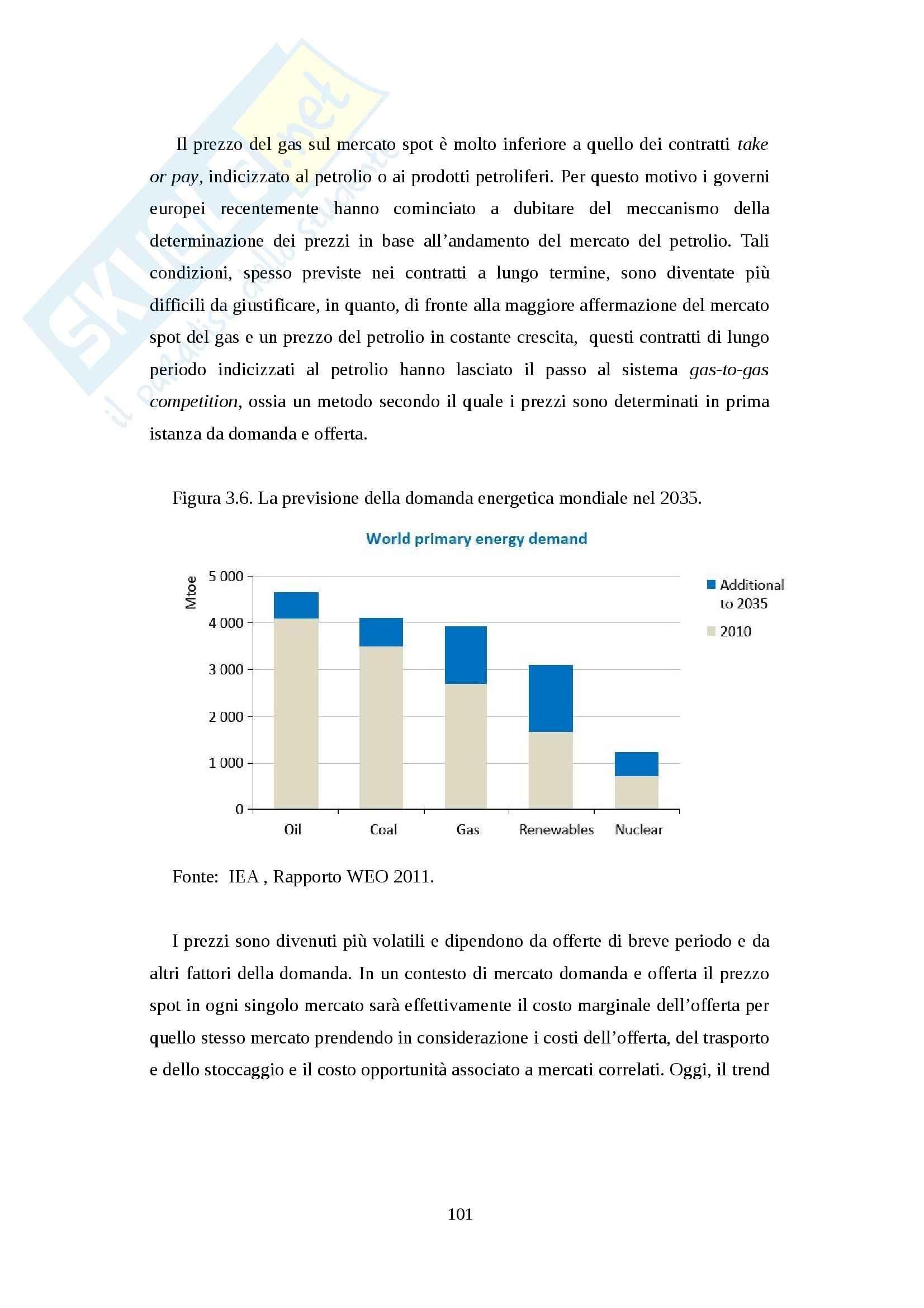 Rapporto di collaborazione tra Europa e Russia nel settore energetico - Tesi Pag. 101