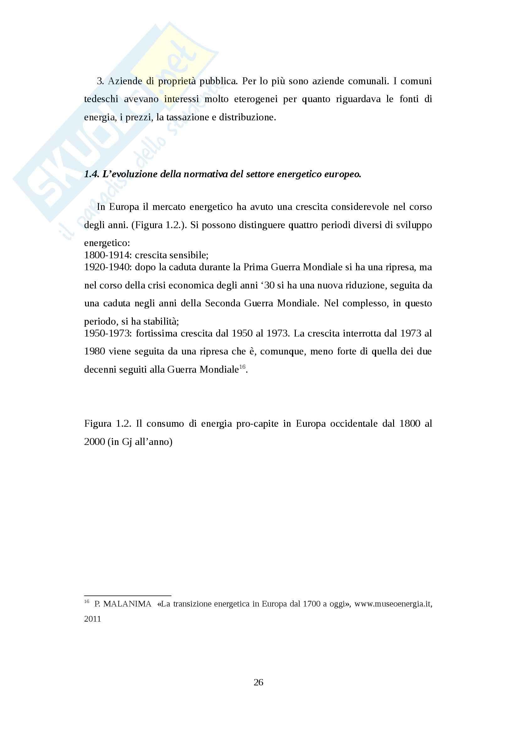 Rapporto di collaborazione tra Europa e Russia nel settore energetico - Tesi Pag. 26