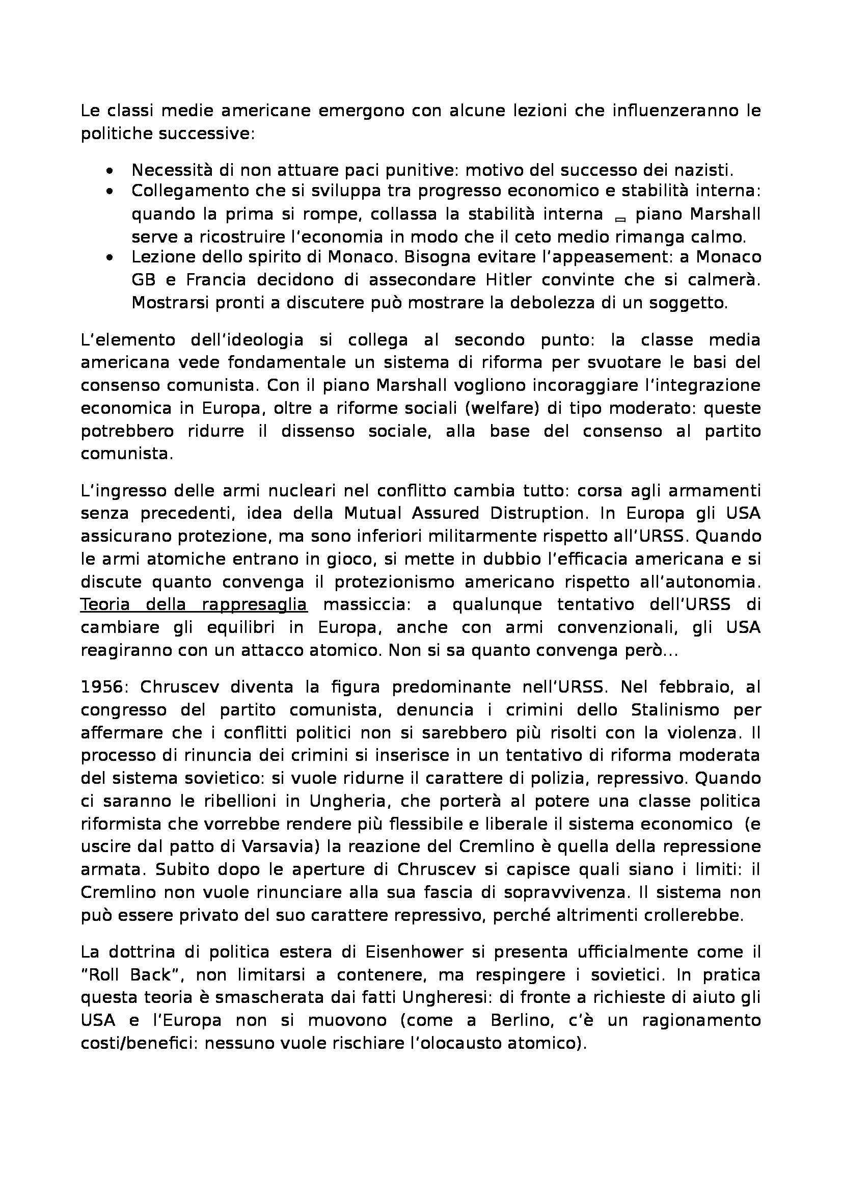 Laboratorio di storia delle relazioni euro atlantiche - Appunti Pag. 46