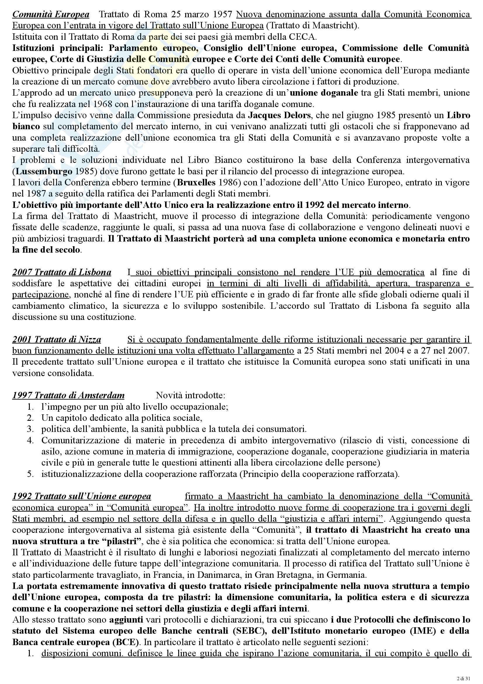 Diritto dell'Unione Europea - concetti e principi Pag. 2